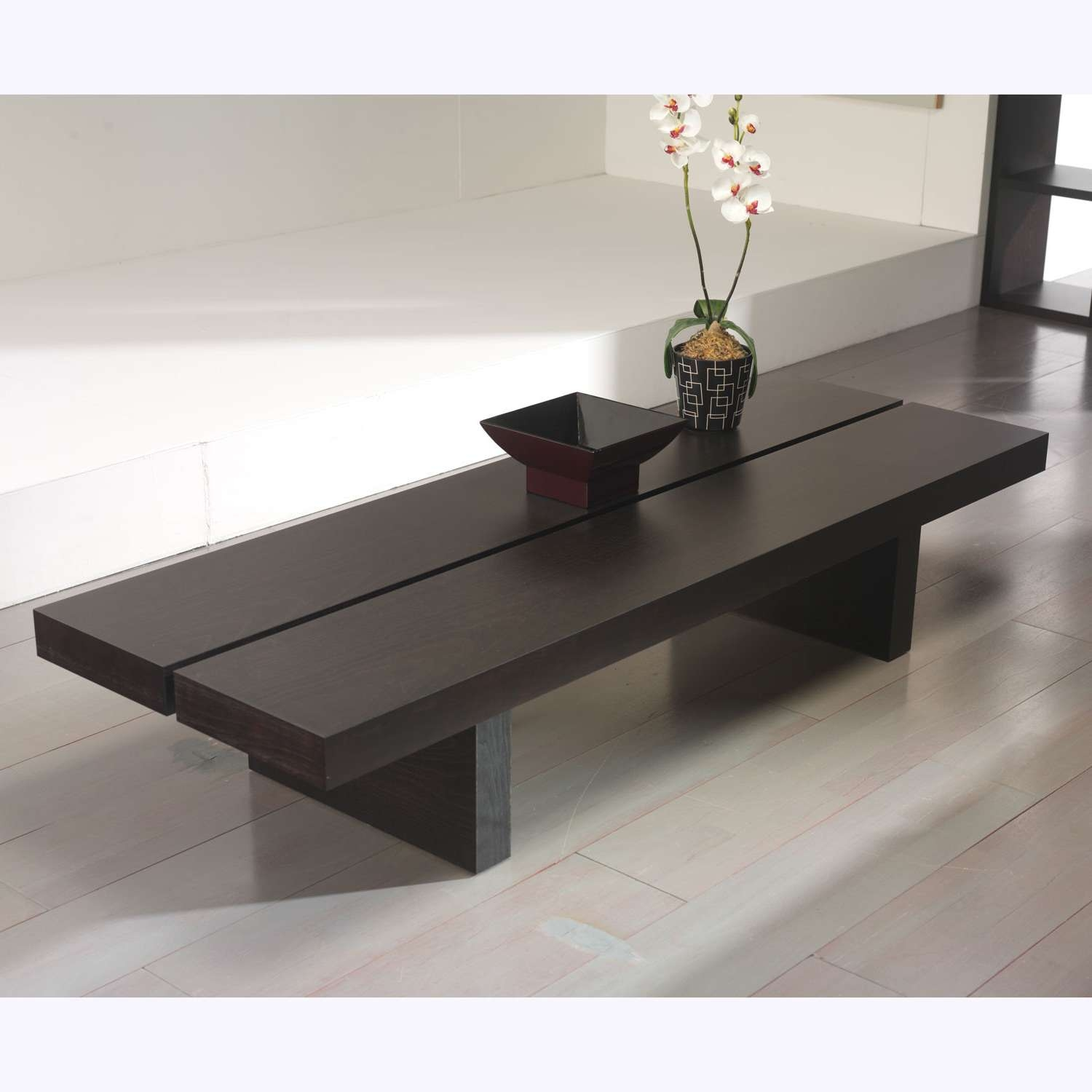 Coffee Tables : Low Profile Coffee Table Living Room Ideas Trend Pertaining To 2018 Low Coffee Tables (View 10 of 20)