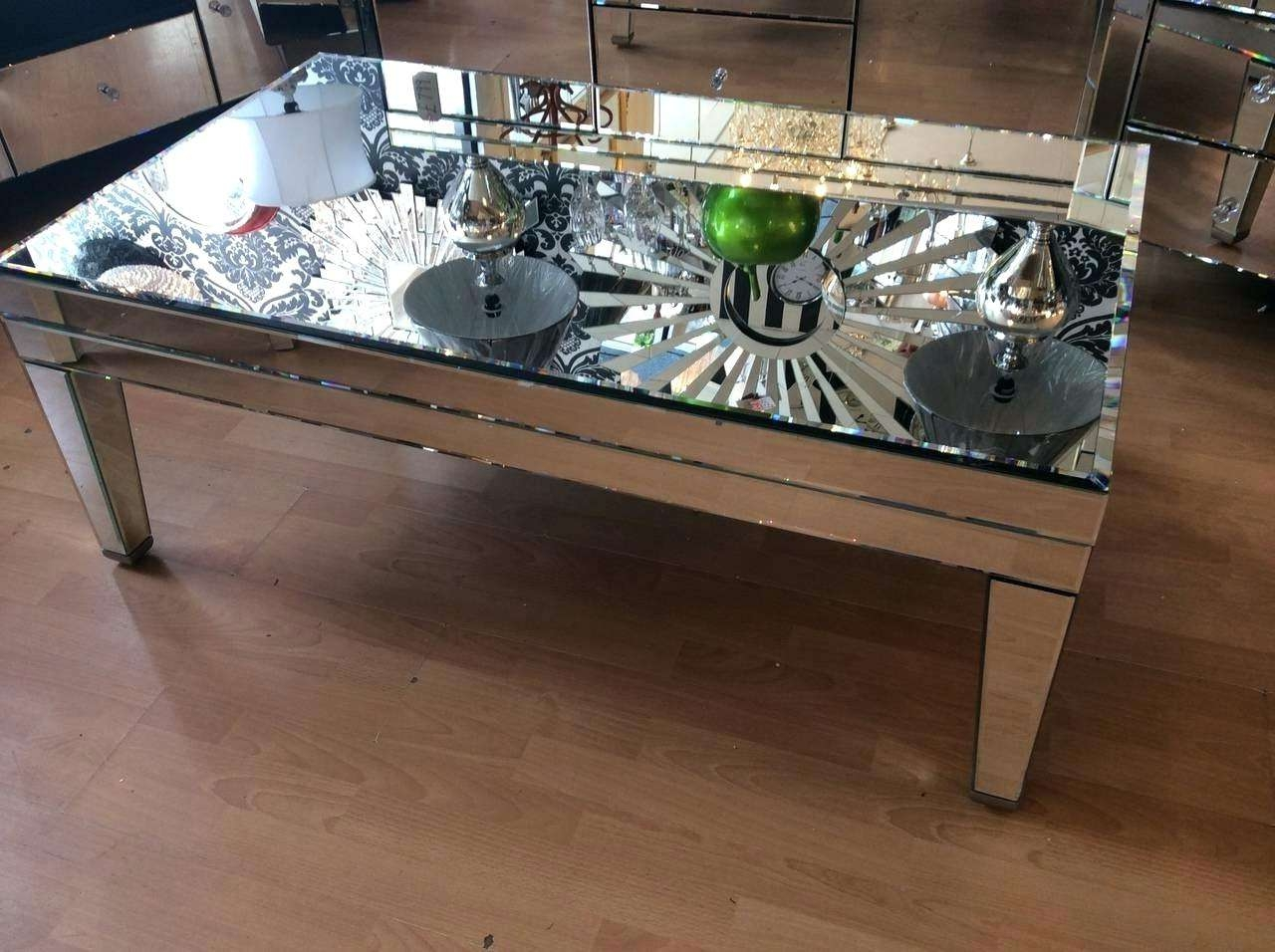 Coffee Tables : Mirrored Coffee Table Tray Marvelous Gold Glass Throughout 2018 Coffee Tables Mirrored (View 7 of 20)