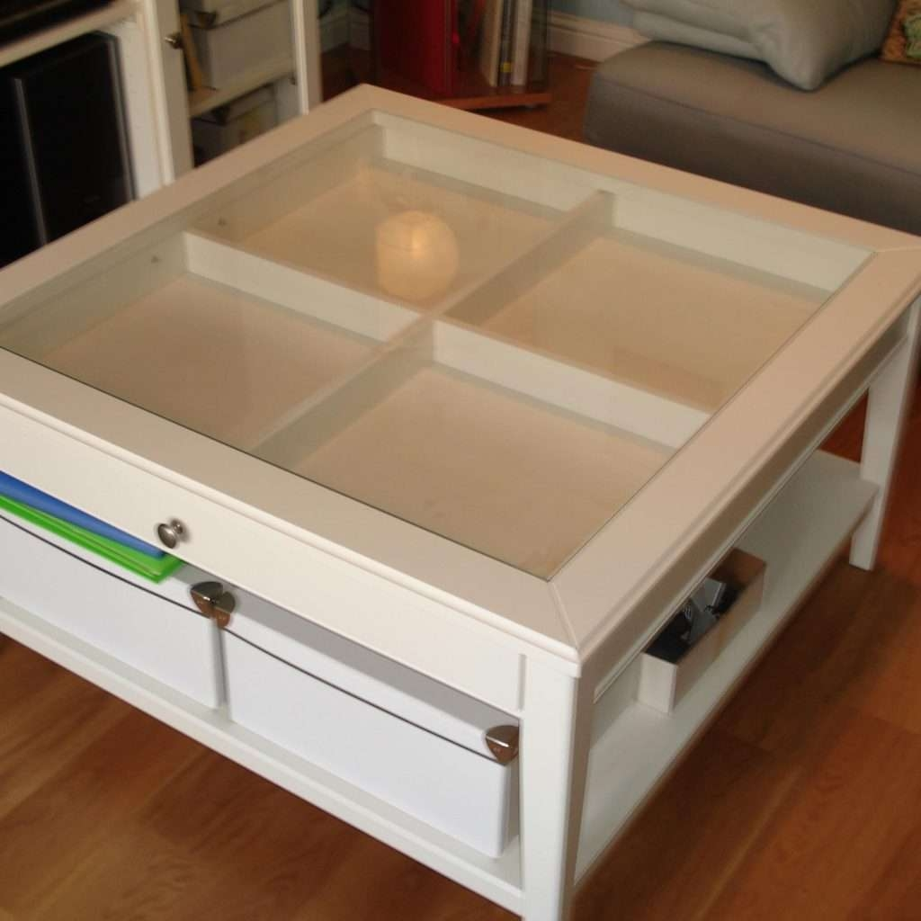 Coffee Tables : Modern Table With Drawer Photos Coffee Glass Top For Most Recently Released Coffee Tables With Glass Top Display Drawer (View 7 of 20)