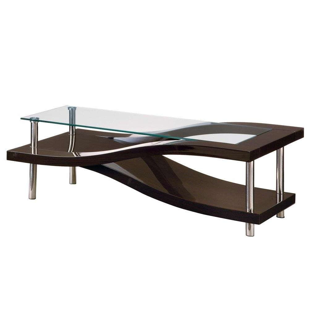 Coffee Tables : Modern Table With Drawer Photos Coffee Glass Top In Widely Used Glass Topped Coffee Tables (View 6 of 20)