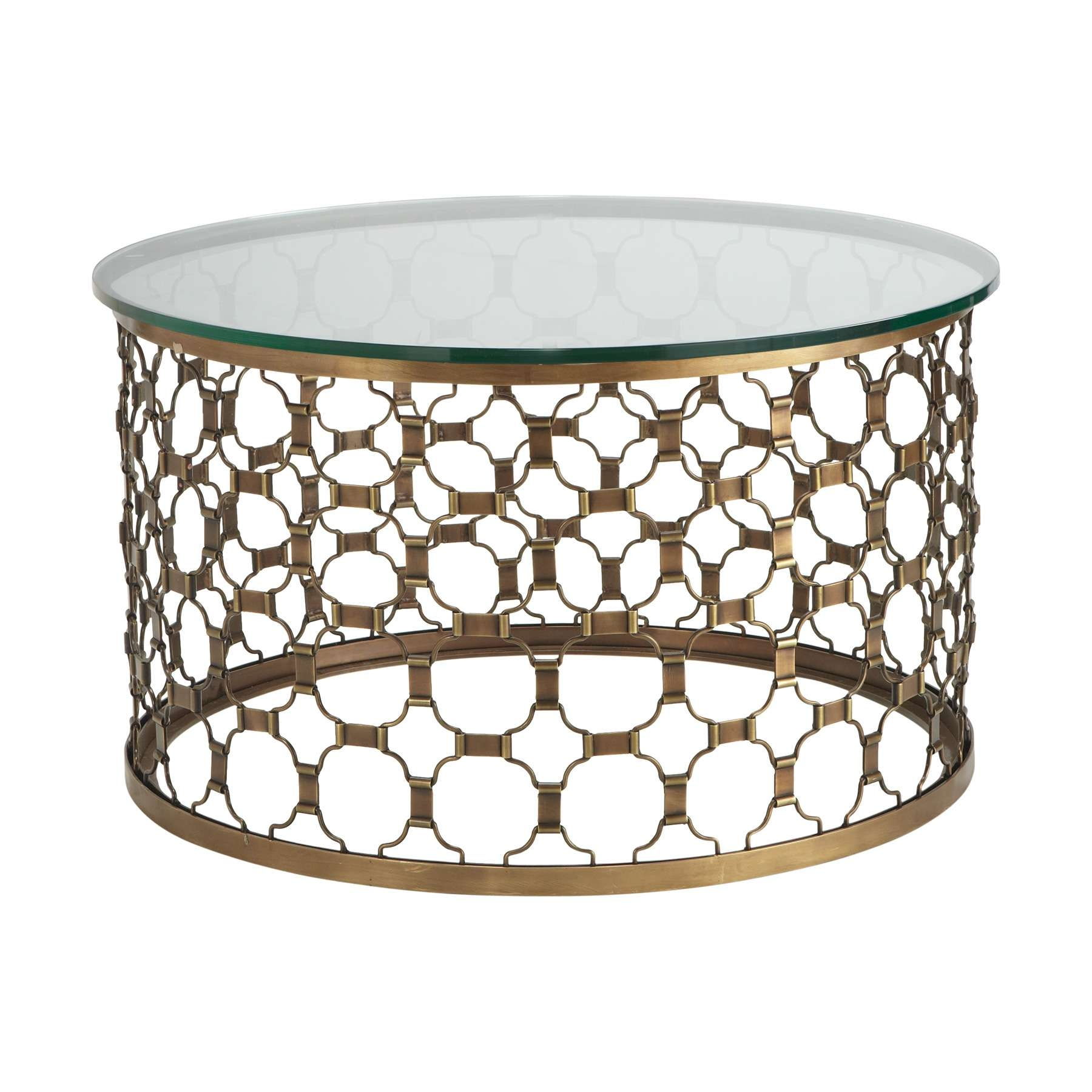 Coffee Tables : Naomi Round Coffee Table Elegant Gold Metal Top Pertaining To Newest Contemporary Round Coffee Tables (View 6 of 20)