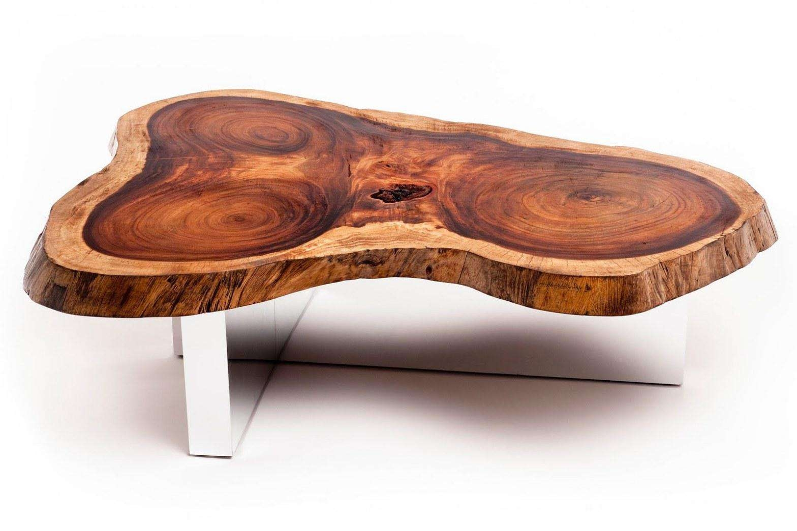 Coffee Tables : Natural Wood Slab Coffee Table Tree Round And With Regard To Favorite High Quality Coffee Tables (View 2 of 20)