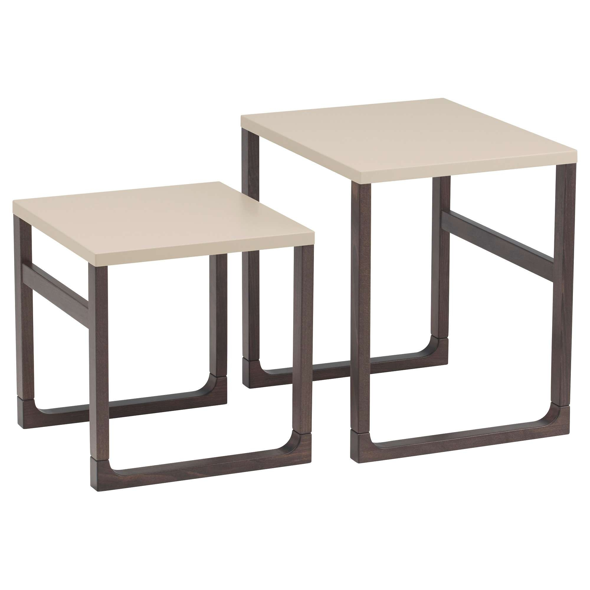 Coffee Tables : Nesting Coffee Tables Rissna Set Of Ikea Small Intended For Favorite Nest Coffee Tables (View 9 of 20)