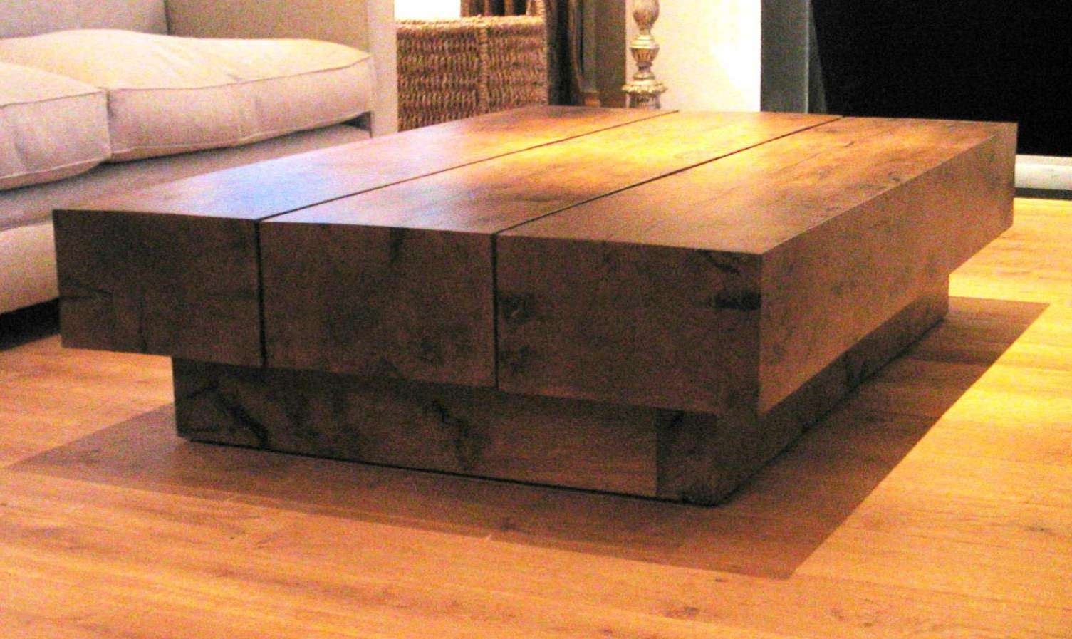 Coffee Tables : Oak Coffee Table Canterbury Solid French Rustic Pertaining To 2017 Solid Oak Beam Coffee Table (View 4 of 20)