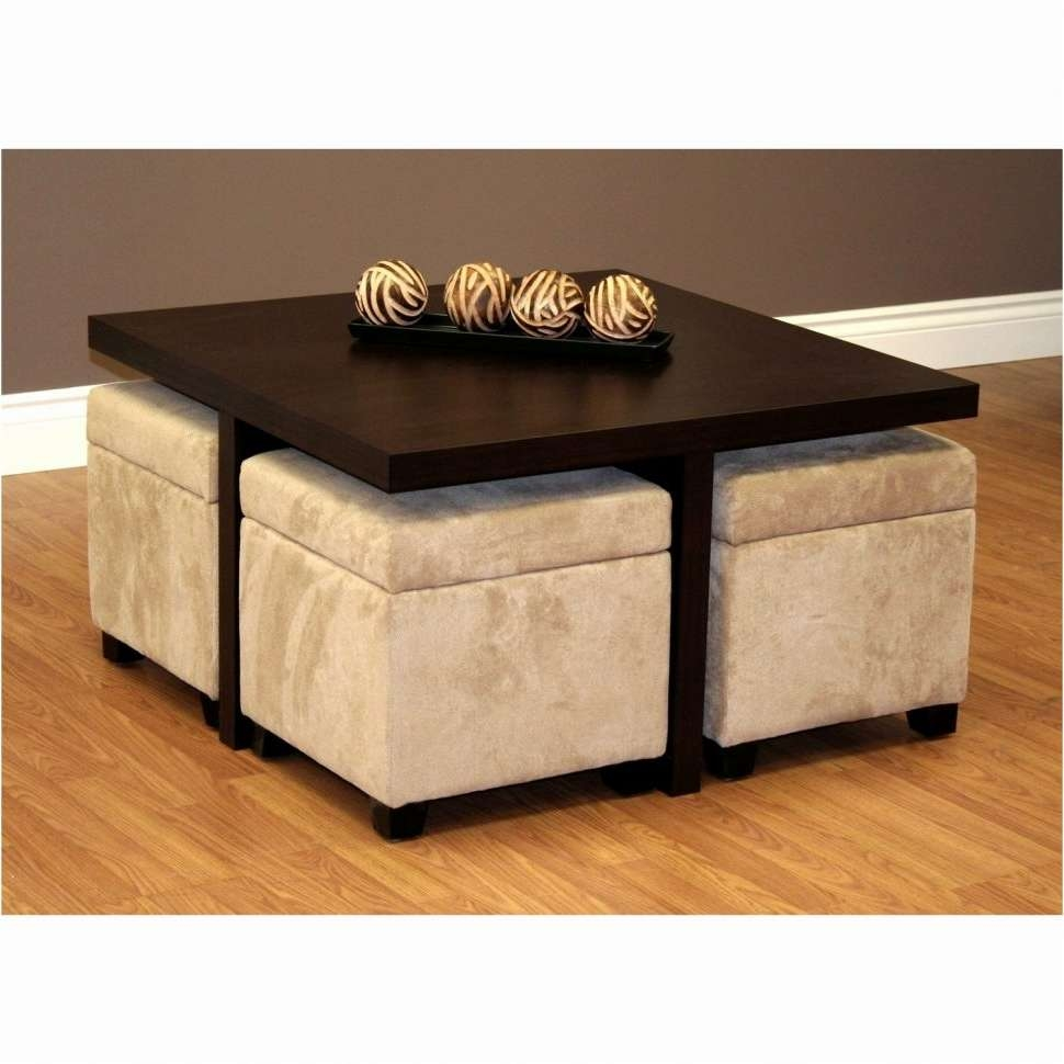 Coffee Tables : Ottoman Coffee Table With Storage Awesome For Most Popular Coffee Tables With Shelf Underneath (View 3 of 20)