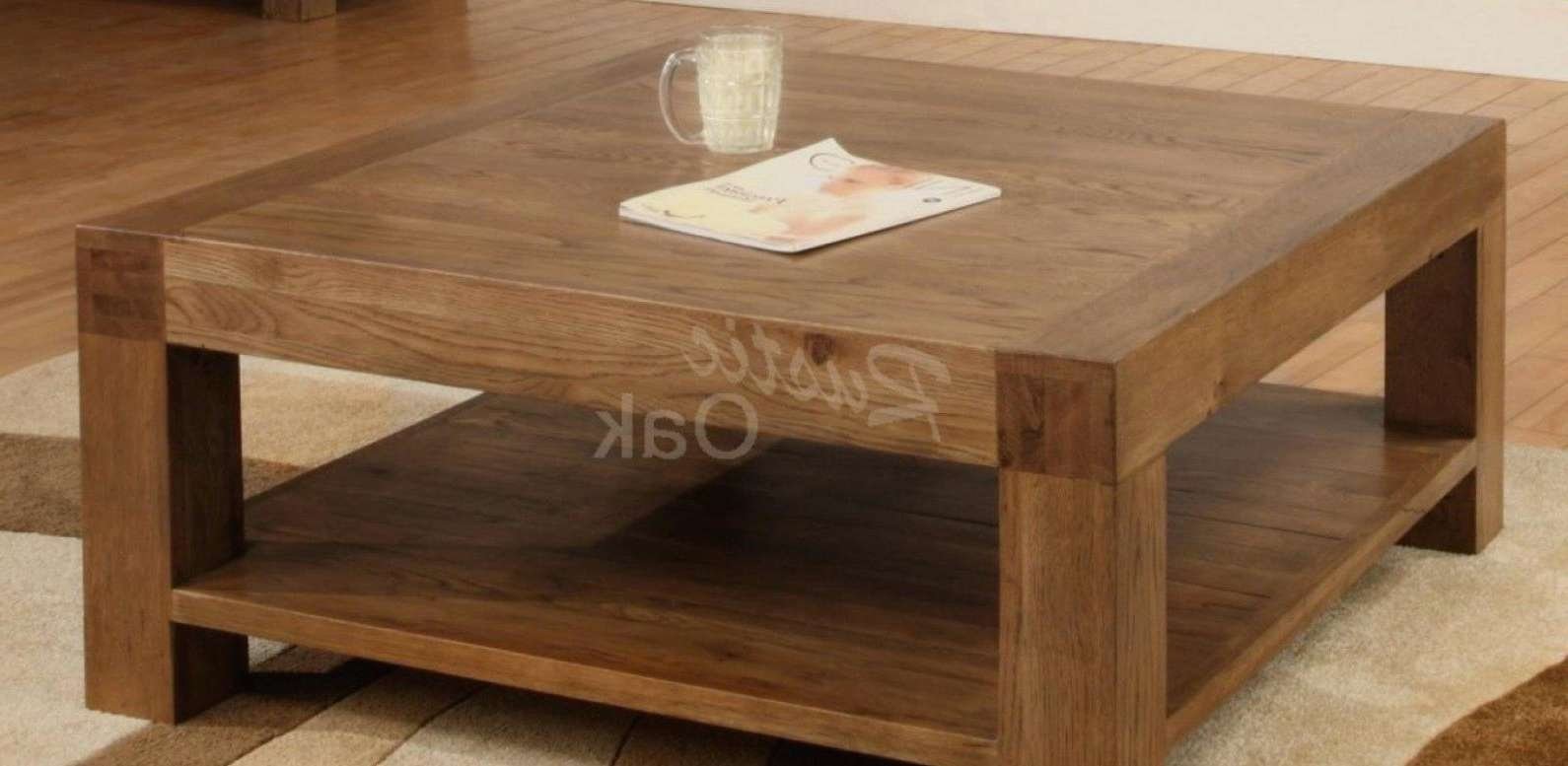 Coffee Tables : Oval Wood Coffee Table Wooden Sets Dark Cherry With Recent Chunky Wood Coffee Tables (View 20 of 20)