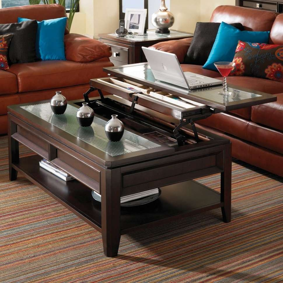 Coffee Tables : Pillow Glass Lift Top Coffee Table Blue Wallpaper With Widely Used Coffee Tables With Raisable Top (View 5 of 20)