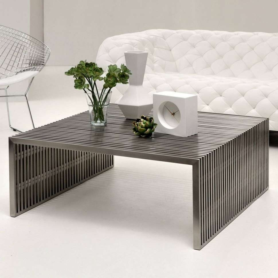 Coffee Tables : Popular Big Low Coffee Tables Table Square Wood Inside 2018 Big Low Coffee Tables (View 10 of 20)