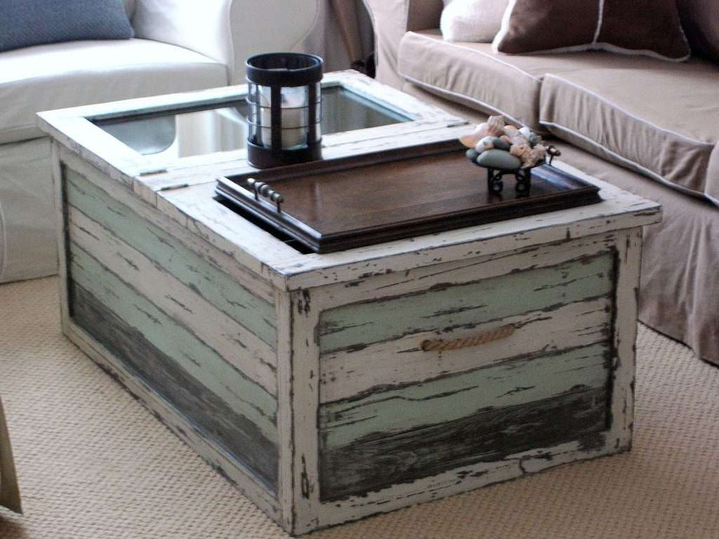 Coffee Tables : Rarettageffee Table Photos Ideas Beach Trunk Style With Regard To Current White Cottage Style Coffee Tables (View 5 of 20)