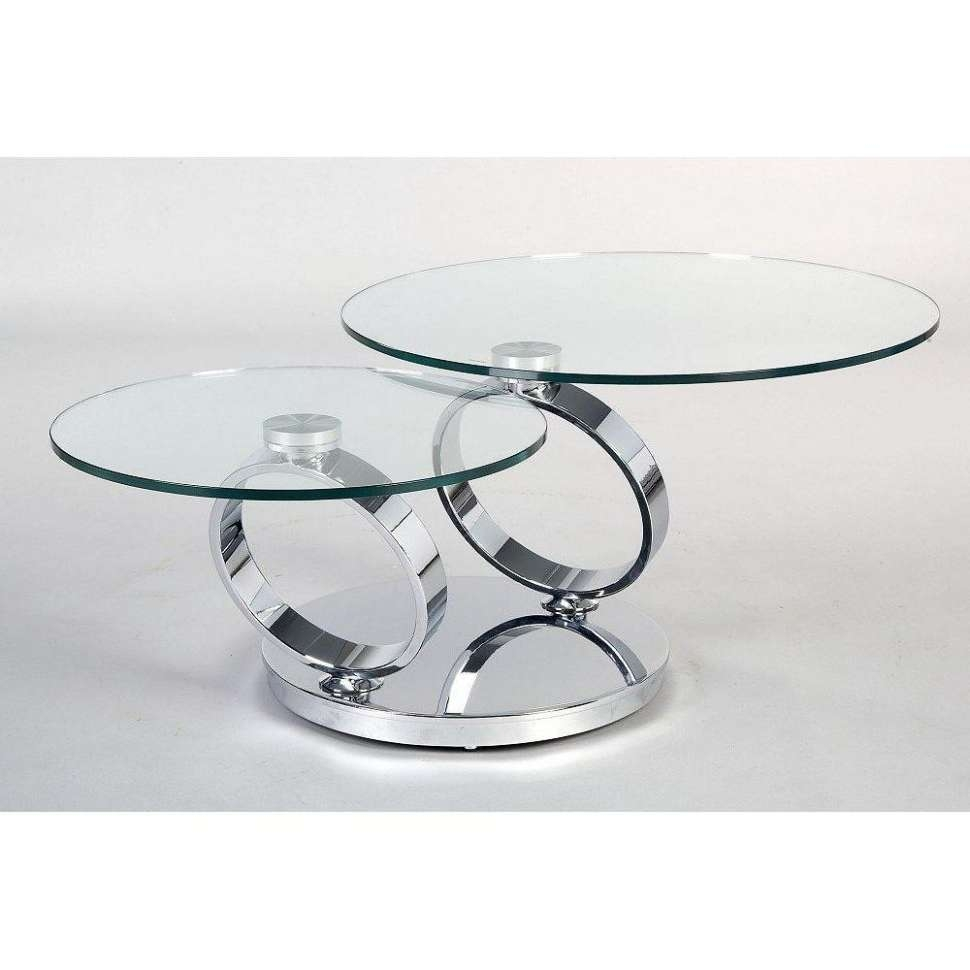 Coffee Tables : Round Chrome And Glass Coffee Table Remodel Ideas Throughout Most Current Unusual Glass Coffee Tables (View 3 of 20)