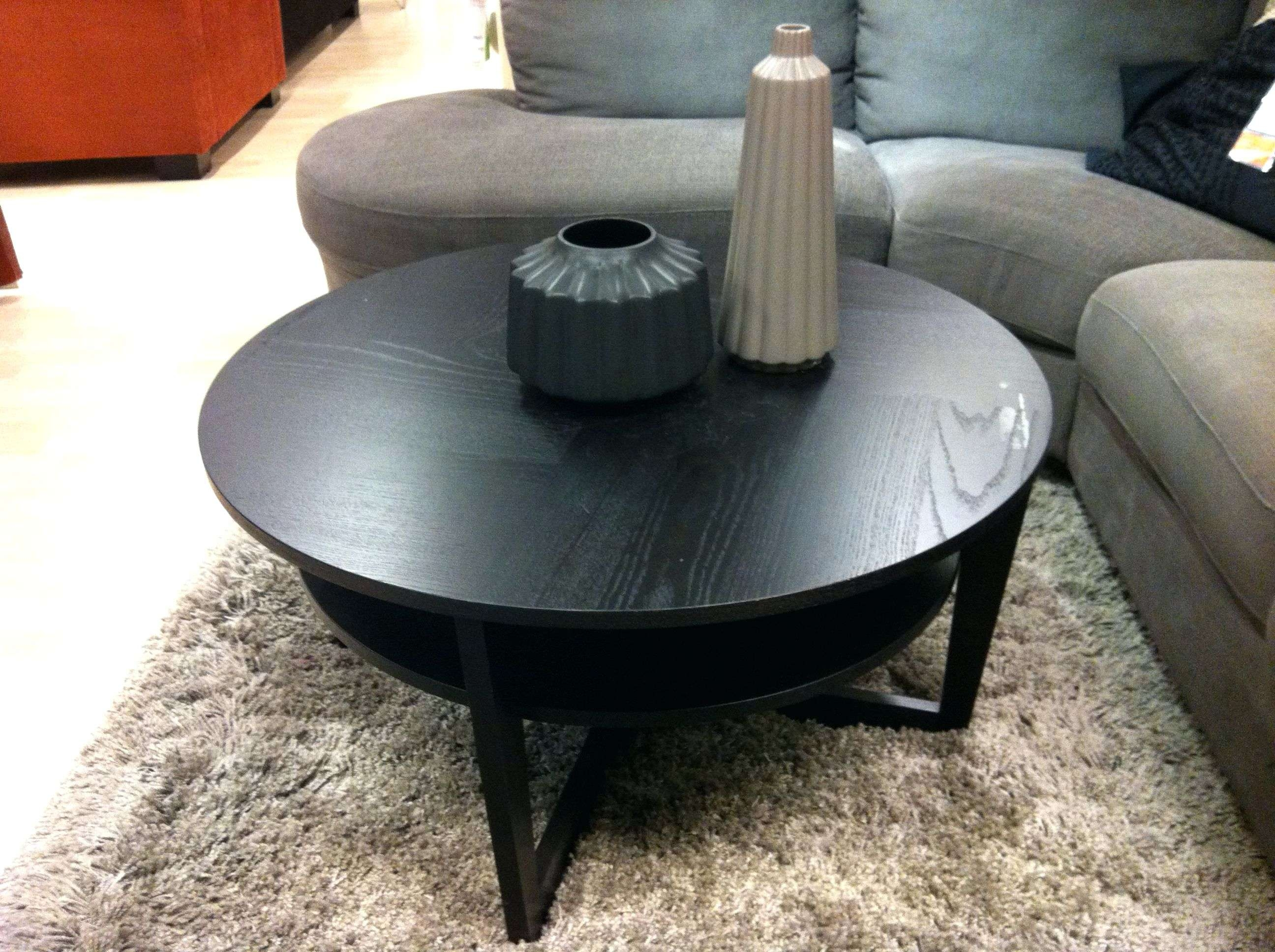 Coffee Tables : Round Coffee Table Ikea Ikea Living Room Tables Intended For Latest Black Circle Coffee Tables (View 5 of 20)