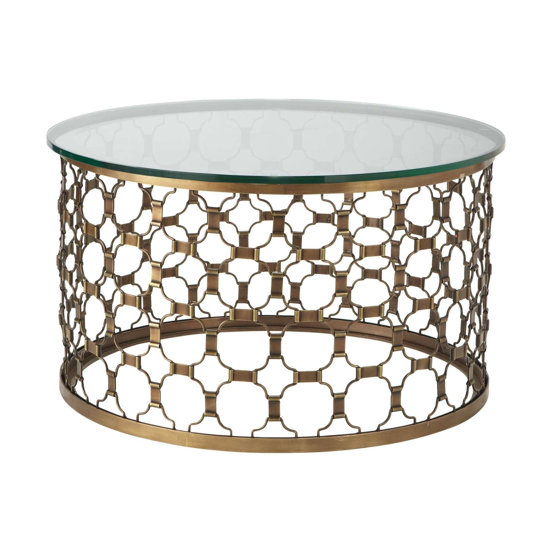 Coffee Tables : Round Coffee Table Wood And Metal Naomi Elegant Pertaining To Preferred Metal Round Coffee Tables (View 2 of 20)
