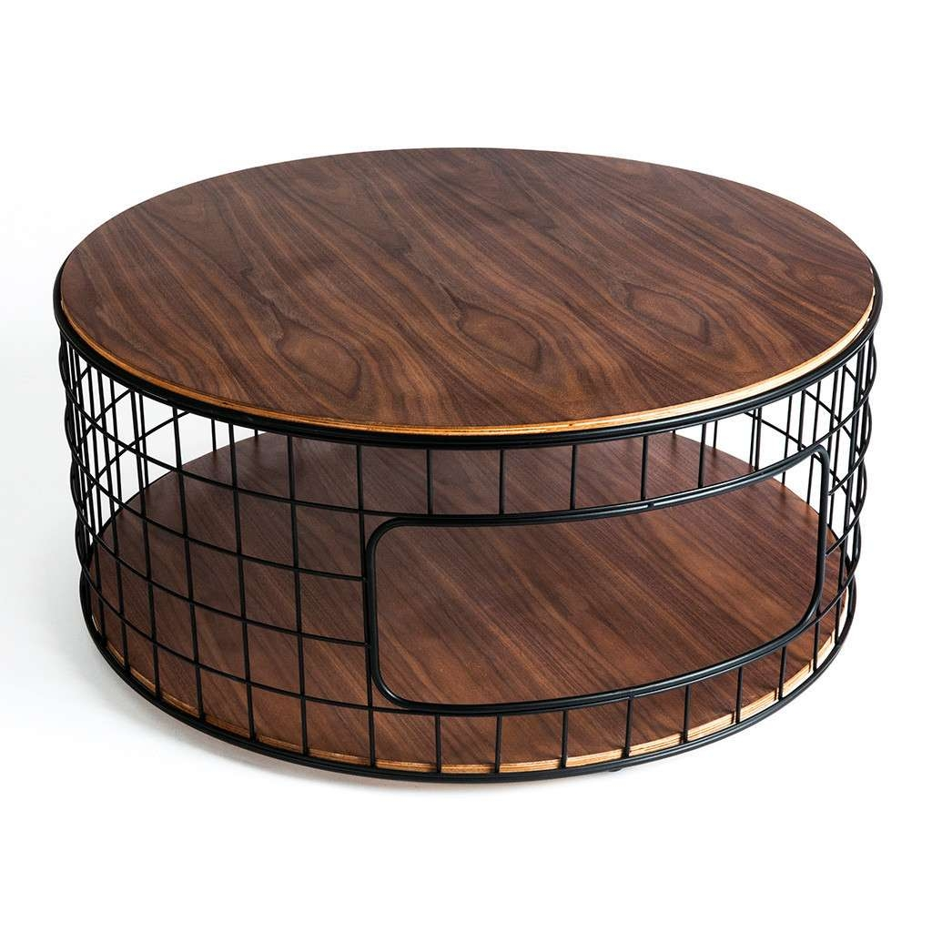 Coffee Tables : Round Metal Coffee Table Unique Cocktail Base In Recent Round Steel Coffee Tables (View 6 of 20)