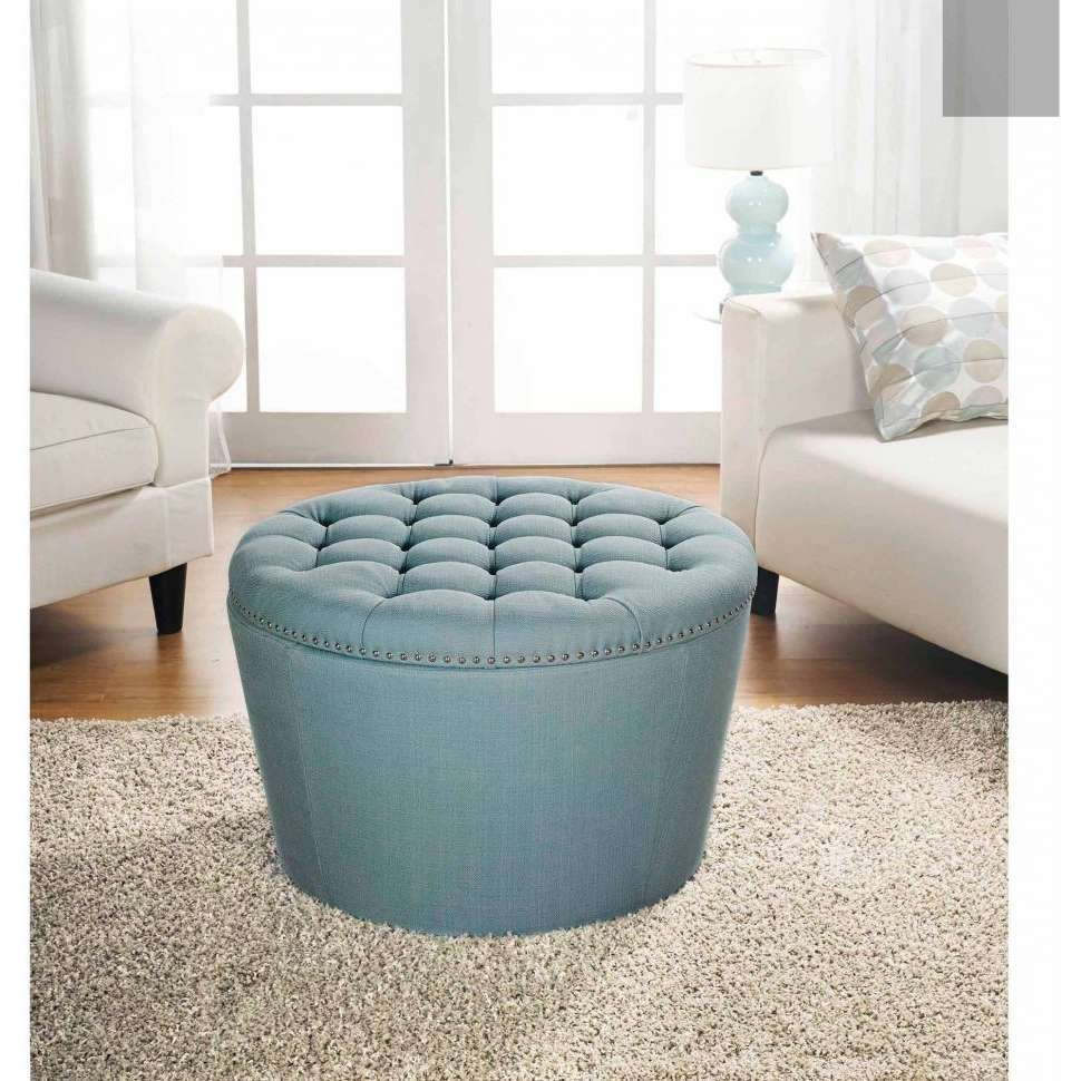 Coffee Tables : Round Storage Bench Where To Buy Ottomans Green In Most Recently Released Green Ottoman Coffee Tables (View 5 of 20)