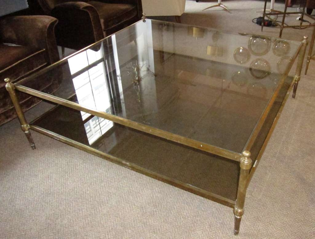 Coffee Tables : Round Tufted Ottoman Extra Large Leather Square For Favorite Huge Square Coffee Tables (View 8 of 20)