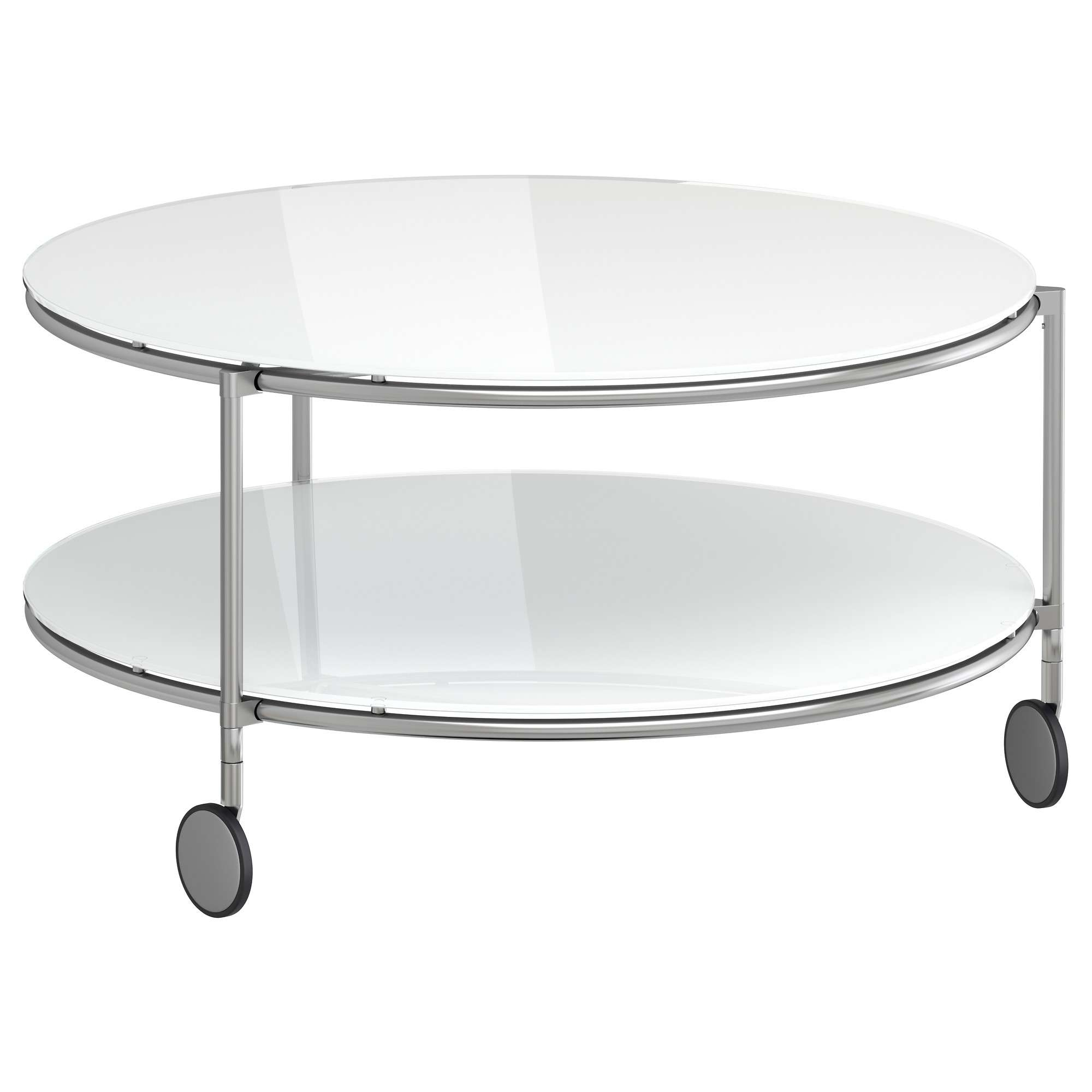 Coffee Tables : Round White Coffee Table Tables Console Ikea Within Most  Current White Circle Coffee