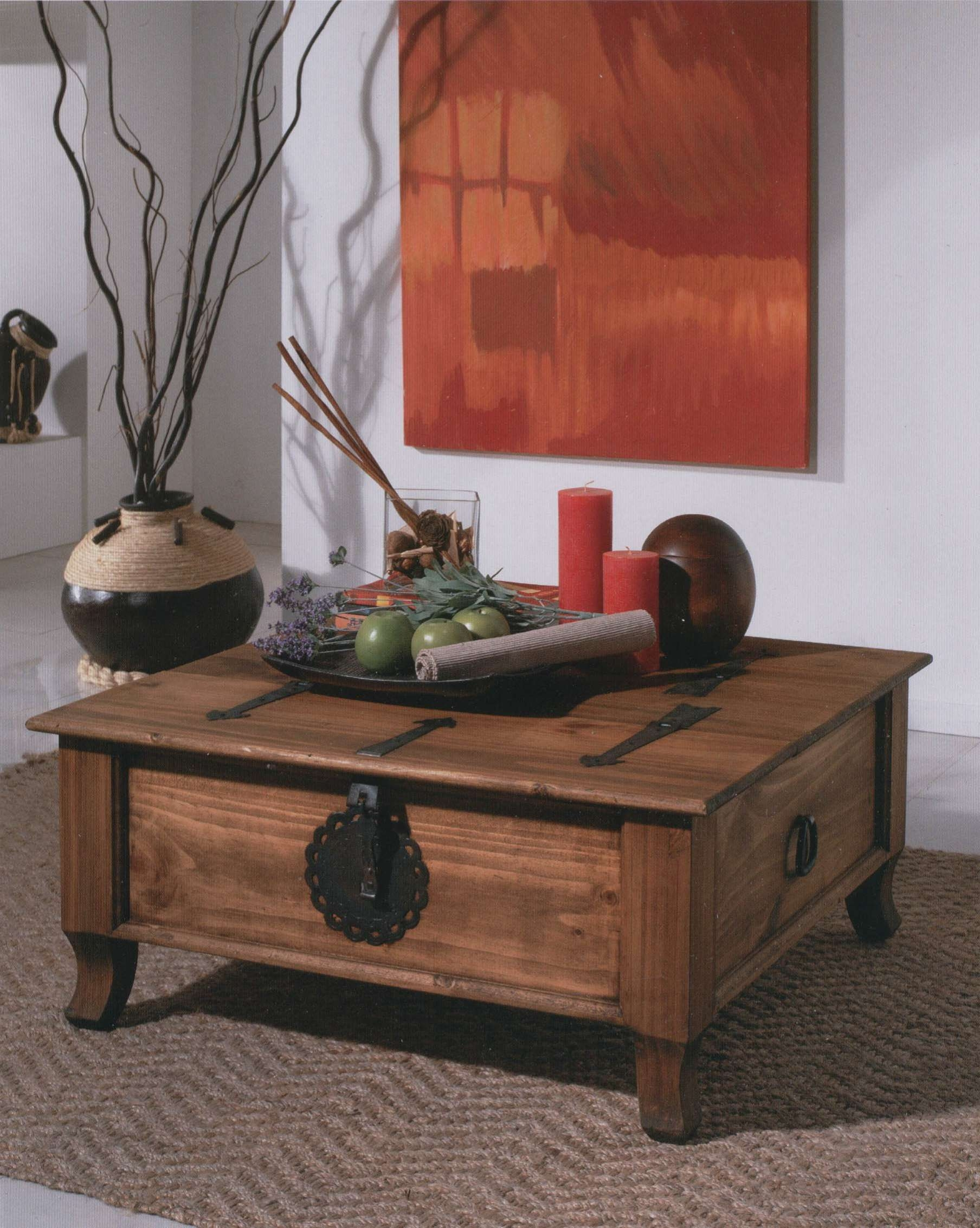 Coffee Tables : Rustic Chest Coffee Table Metal Trunk Style Set Within Current Trunk Chest Coffee Tables (View 4 of 20)