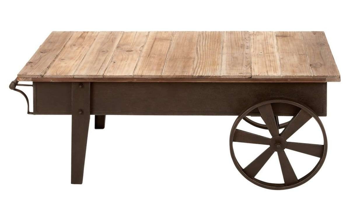 Coffee Tables : Rustic Coffee Table With Wheels Home For You Round Within Well Known Coffee Tables With Wheels (View 12 of 20)