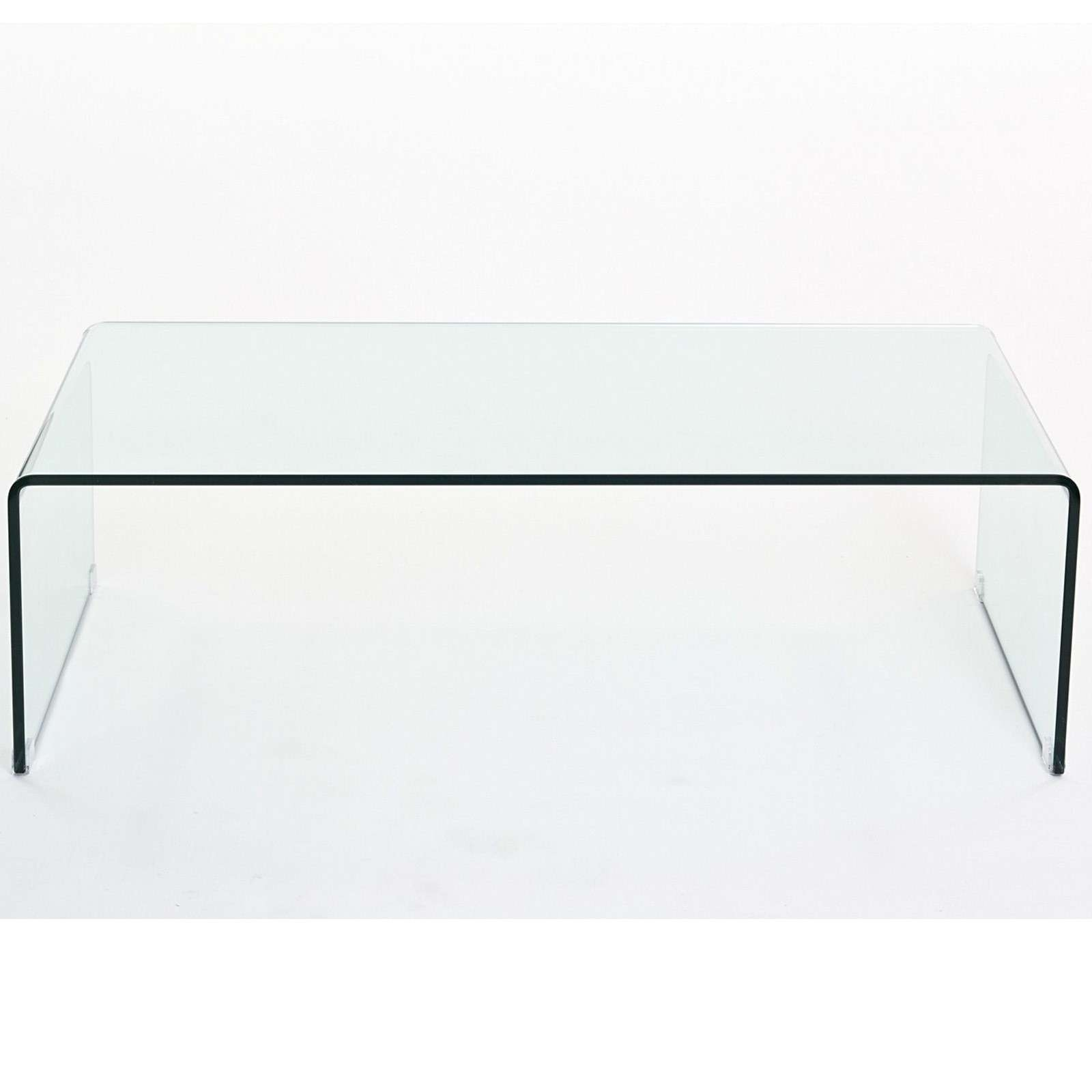 Coffee Tables : Set Of Clear Glass Side Tables Coffee Table With Regard To  Preferred Transparent