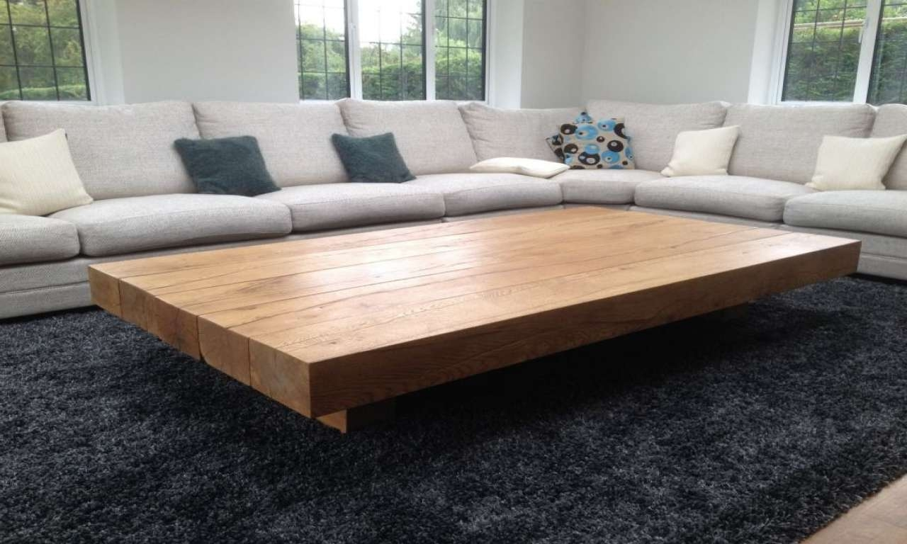 Coffee Tables : Simple Big Low Coffee Table Living Room Table For Recent Big Low Coffee Tables (View 11 of 20)