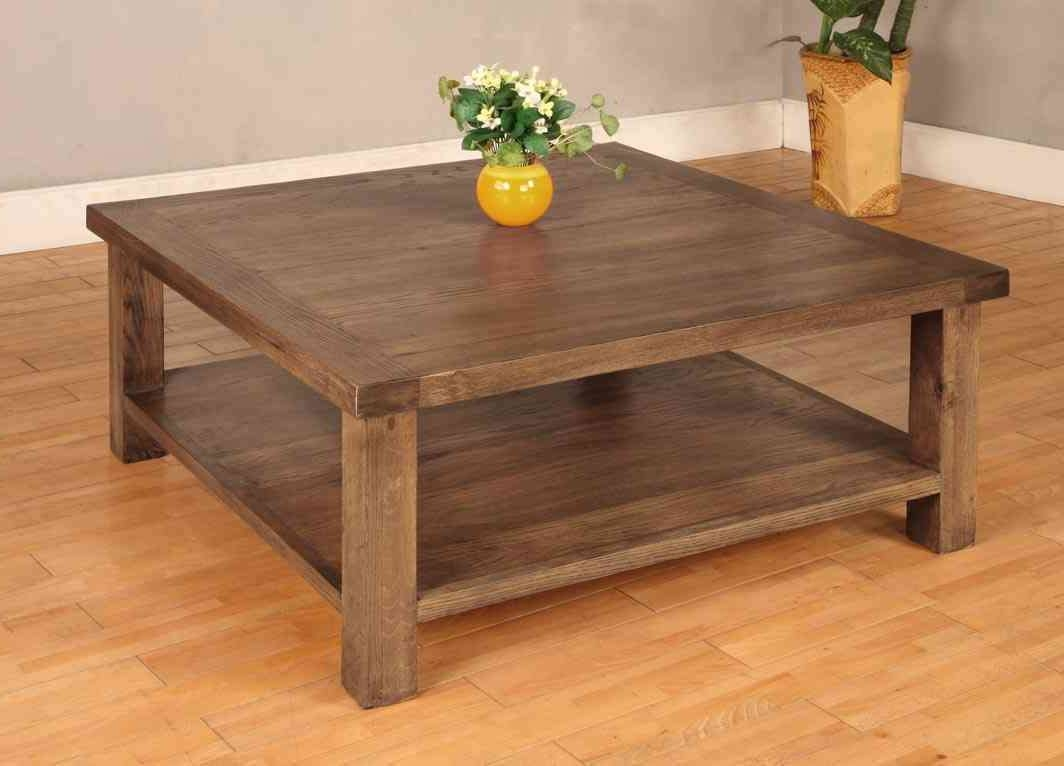Coffee Tables : Simple Excellent Large Square Coffee Tables Wood Throughout Newest Hardwood Coffee Tables With Storage (View 9 of 20)