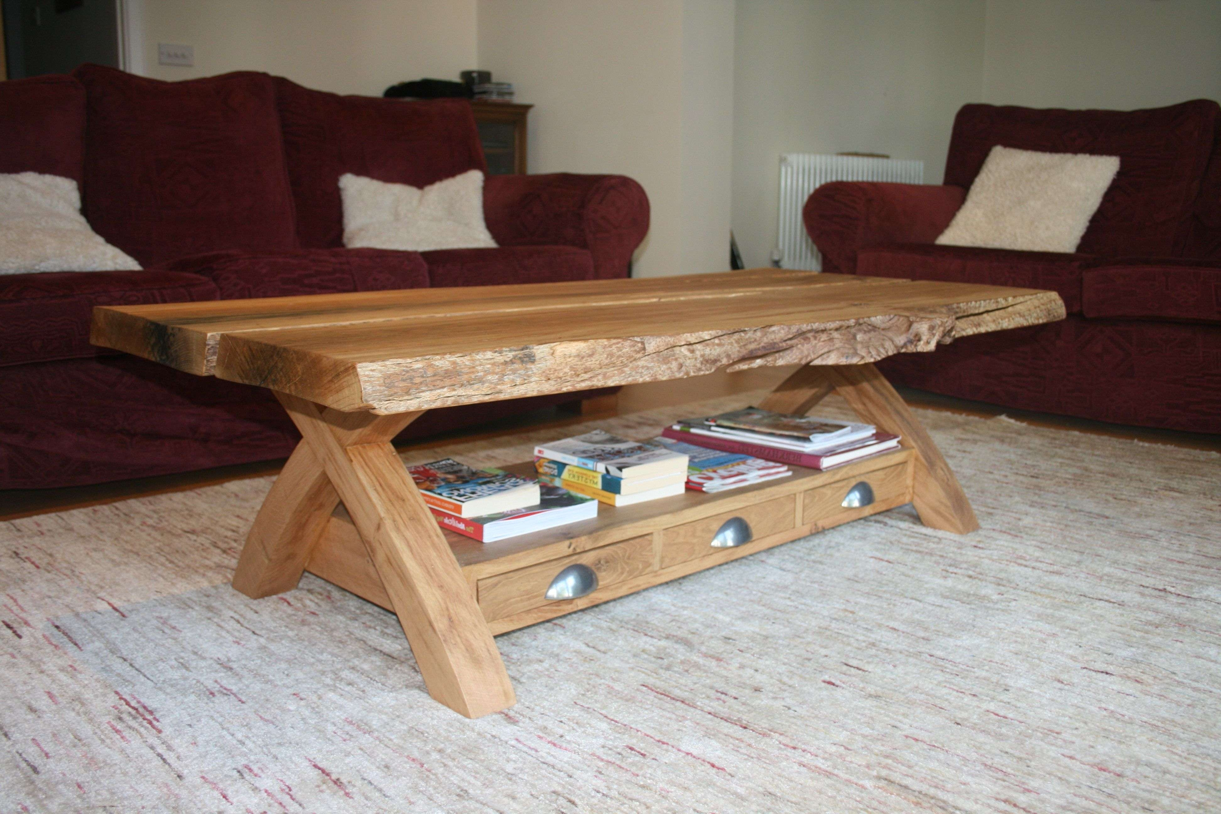 Coffee Tables : Simple Handmade Wood Furniture Living Room Leather Regarding Most Current Handmade Wooden Coffee Tables (View 2 of 20)