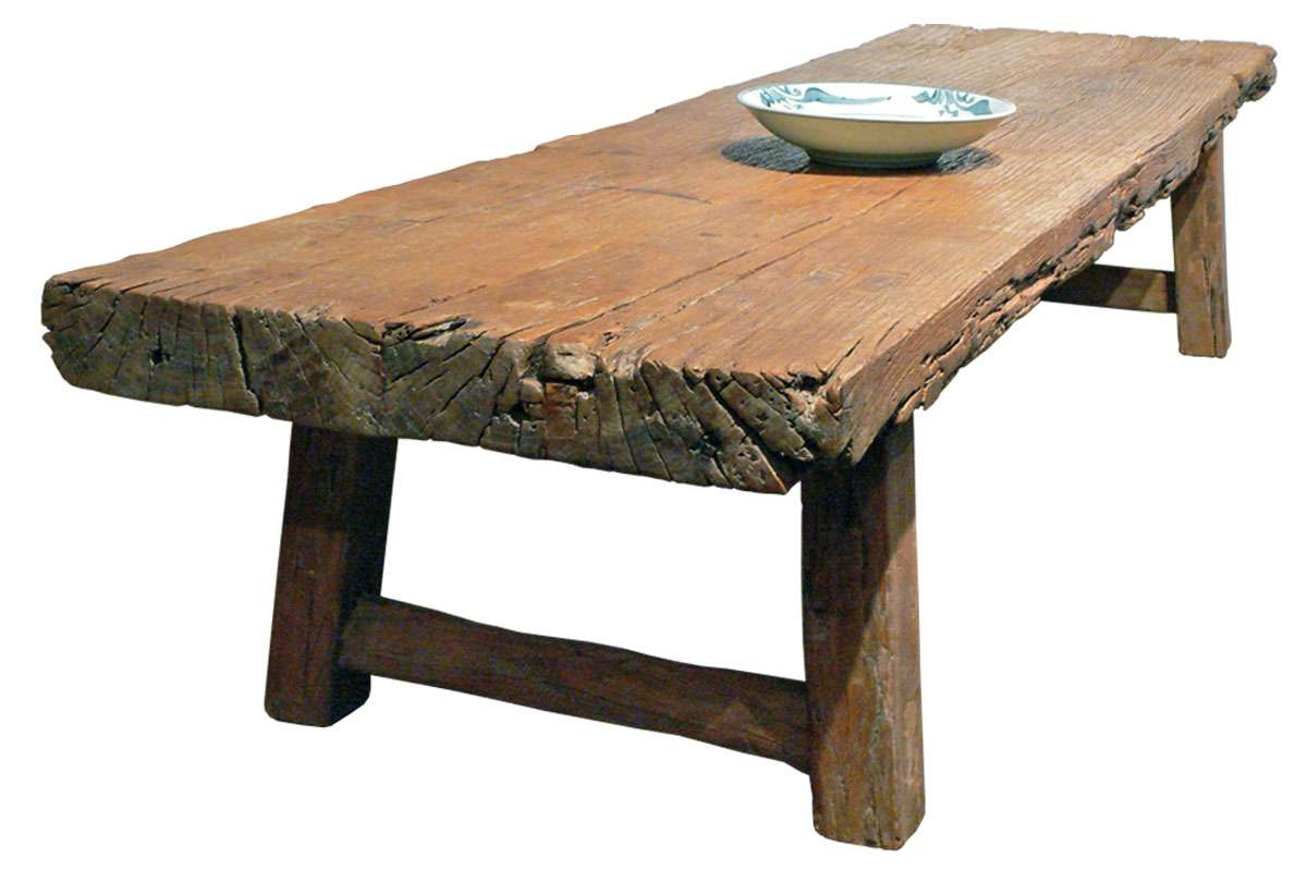 Coffee Tables : Simple Rustic Wood Coffee Table Reclaimed Console Throughout 2018 Large Rustic Coffee Tables (View 7 of 20)