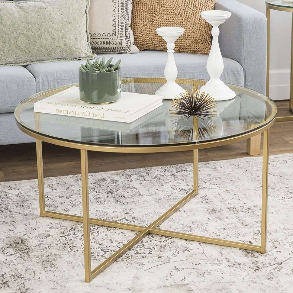 Coffee Tables : Skinny Coffee Table Marble Top Gold Drum White Within Famous Marble And Glass Coffee Table (View 4 of 20)