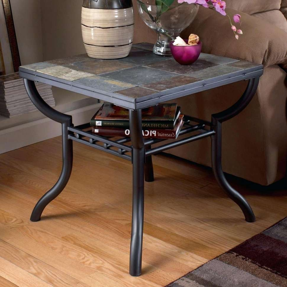 Coffee Tables : Slate Top Coffee And End Tables Signature Design Inside Most Up To Date Round Slate Top Coffee Tables (View 5 of 20)
