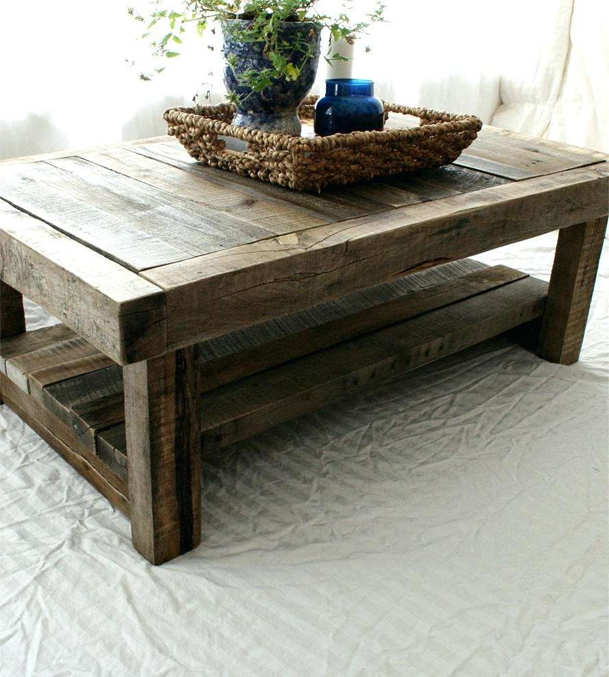 Coffee Tables : Small Reclaimed Wood Coffee Table — All Furniture With Latest Reclaimed Oak Coffee Tables (View 4 of 20)