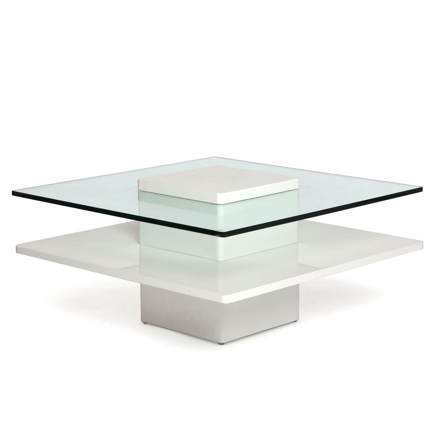 Coffee Tables : Small Square Bedside Table White Side Coffee For Well Known Large Low White Coffee Tables (View 9 of 20)