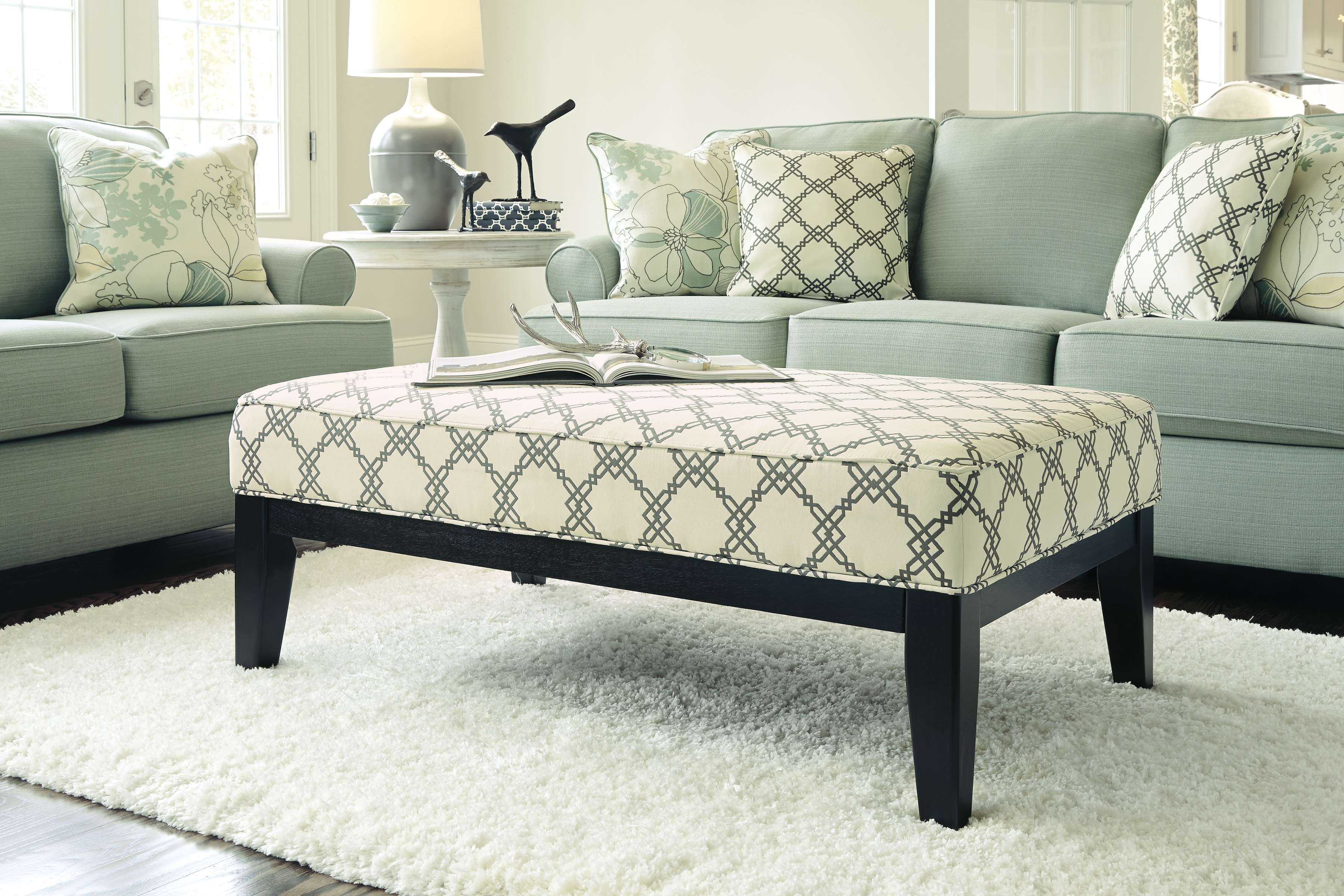 Coffee Tables : Small Tufted Ottoman Round Storage Coffee Table Within Current Green Ottoman Coffee Tables (View 6 of 20)