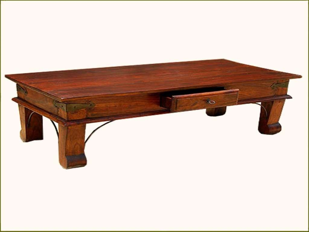Coffee Tables : Solid Wood Coffee Table Unique Rustic Handmade Throughout Preferred Solid Wood Coffee Tables (View 7 of 20)