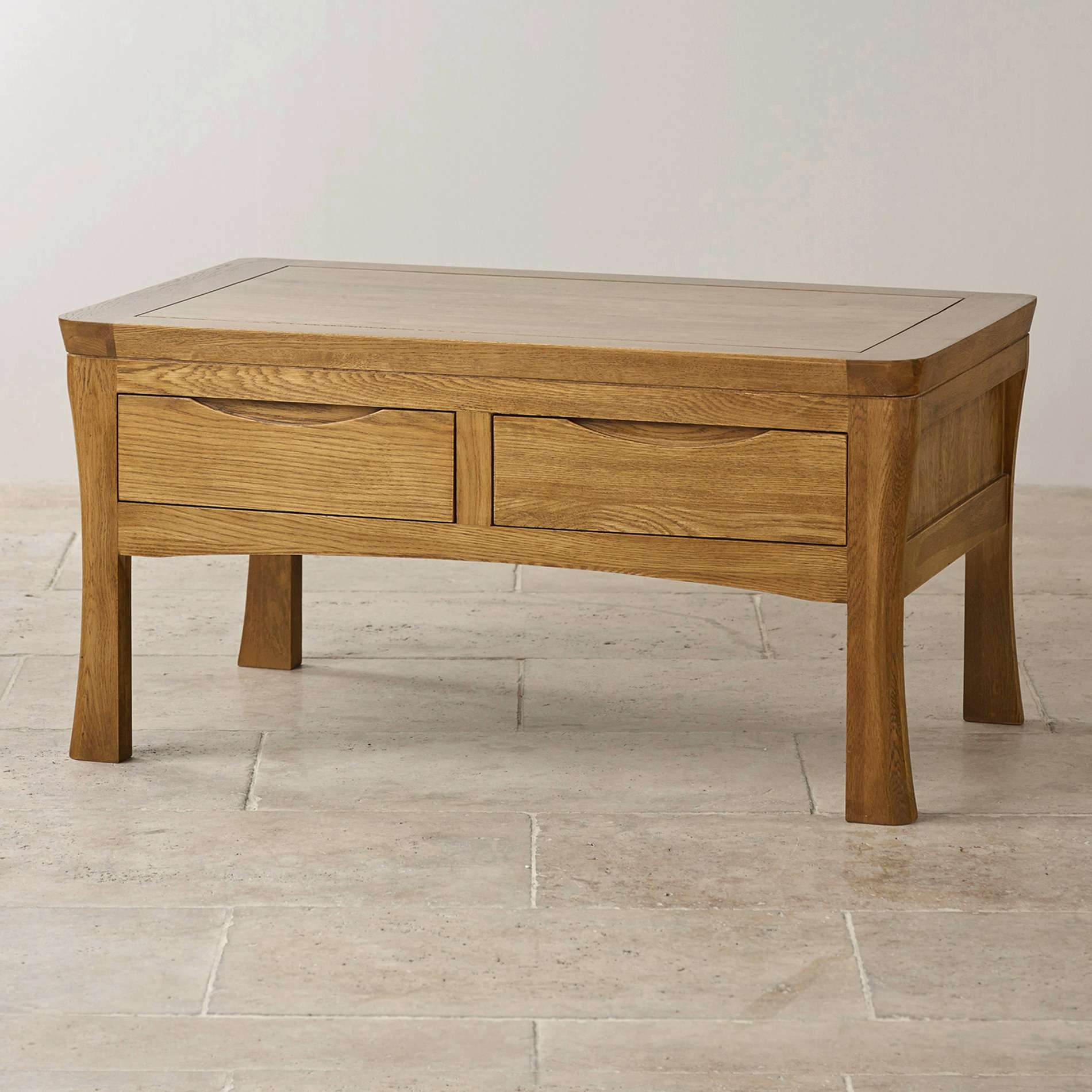 Coffee Tables : Solid Wood Coffee Table With Drawers And Shelf Oak Throughout Well Known Oak Wood Coffee Tables (View 4 of 20)