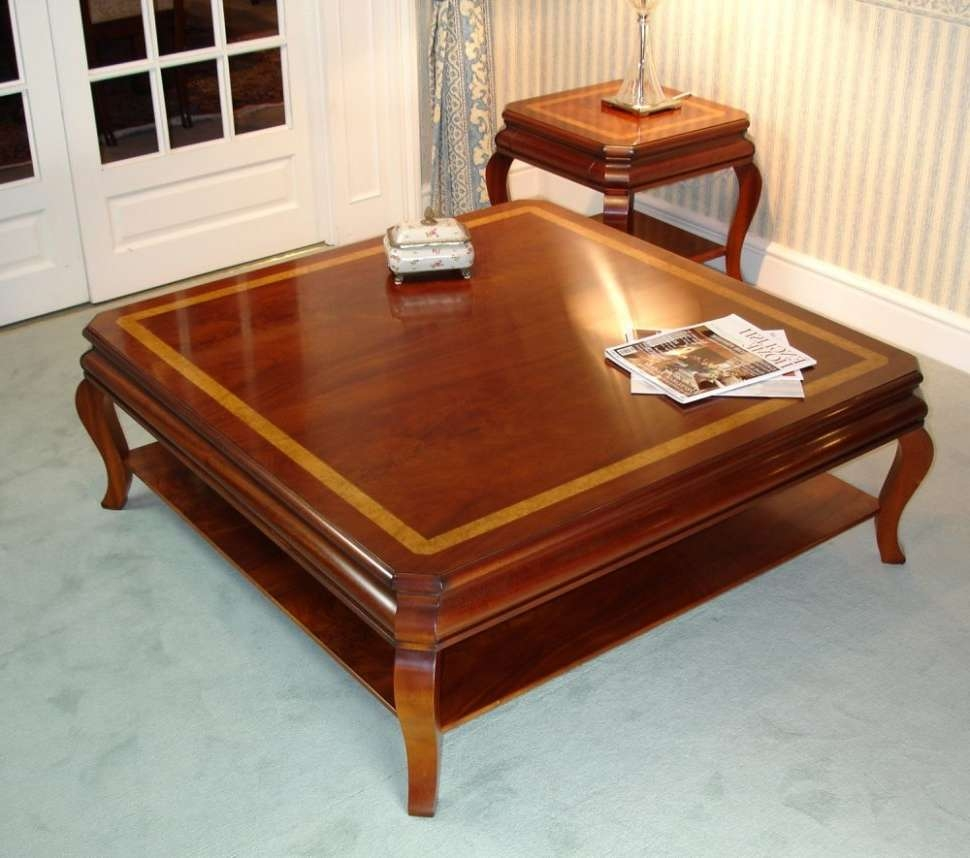 Coffee Tables : Solid Wood Mahogany Square Coffee Table And With Well Liked Coffee Tables Solid Wood (View 6 of 20)