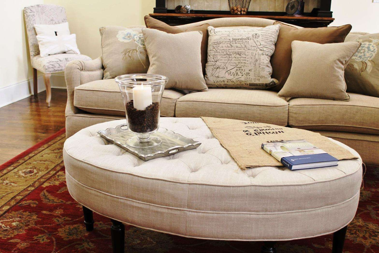 Coffee Tables : Splendid Diy Upholstered Coffee Table Furniture Throughout Newest Round Upholstered Coffee Tables (View 9 of 20)
