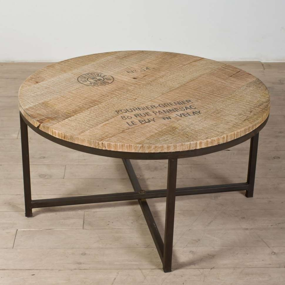 Coffee Tables : Splendid Good Wood Coffee Table Scandinavian Intended For Fashionable Industrial Round Coffee Tables (View 4 of 20)