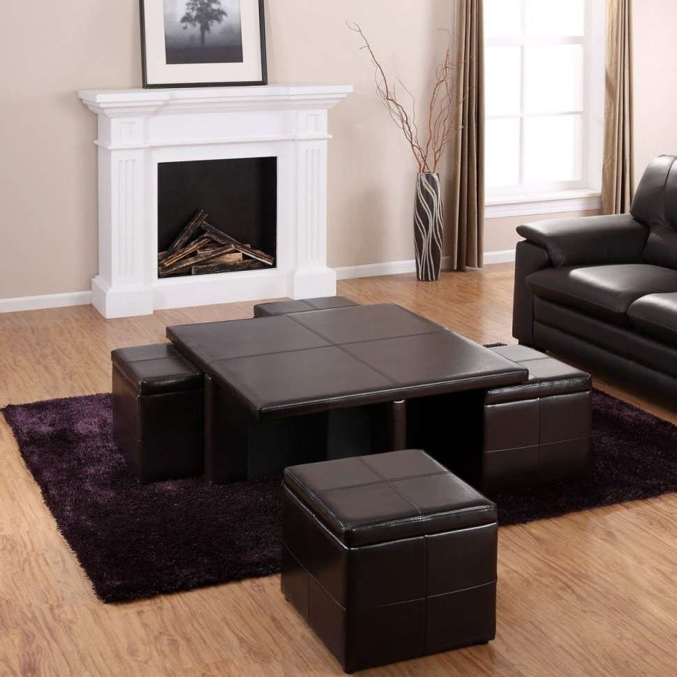 Coffee Tables : Square Coffee Table With Storage Cubes Drawers Intended For Most Current Square Coffee Tables With Storage Cubes (View 3 of 20)