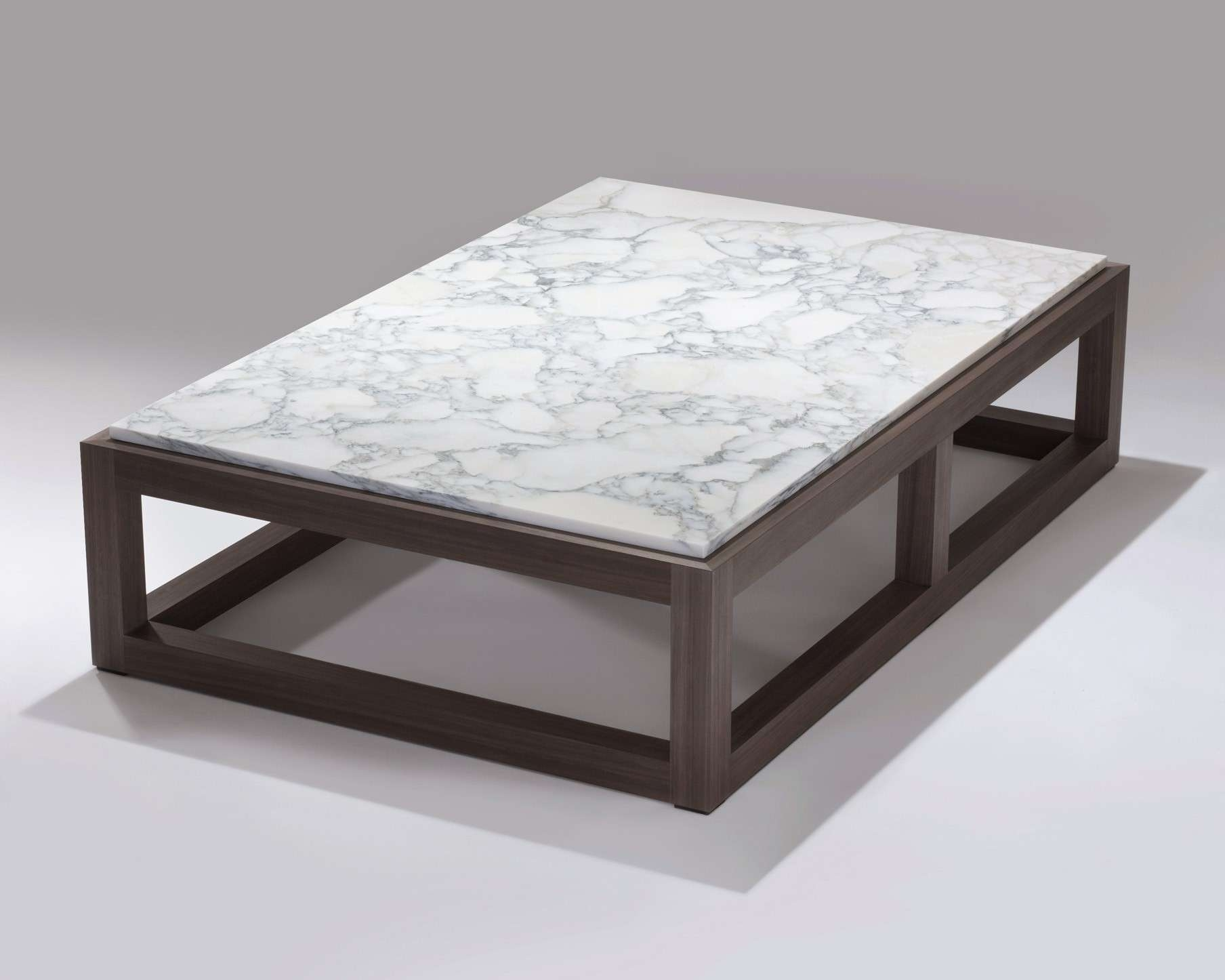 Coffee Tables Square Stone Top Table Material Leather Pertaining To Popular