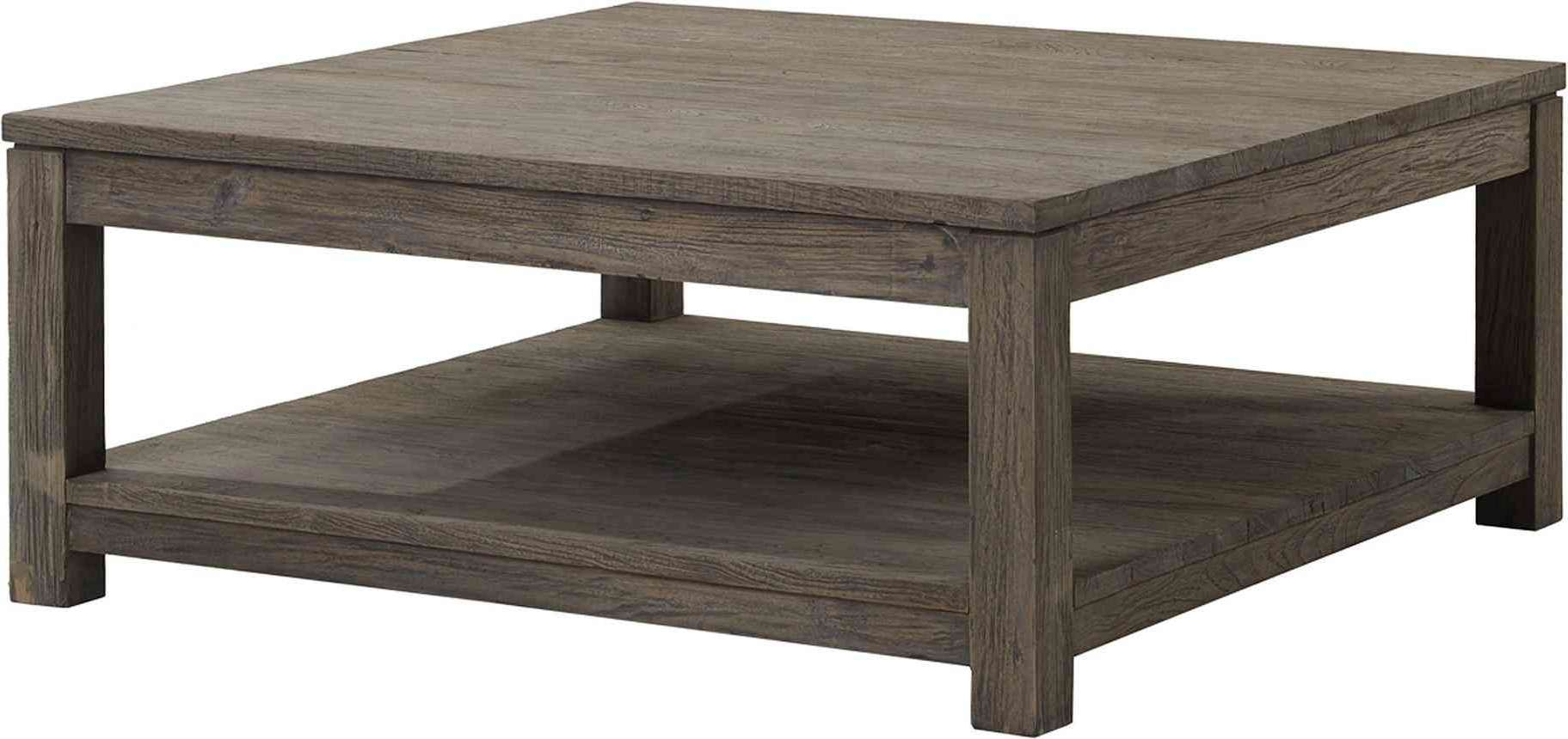 Coffee Tables : Square Wooden Coffee Table With Drawers Rustic Intended For Widely Used Square Wooden Coffee Tables (View 3 of 20)
