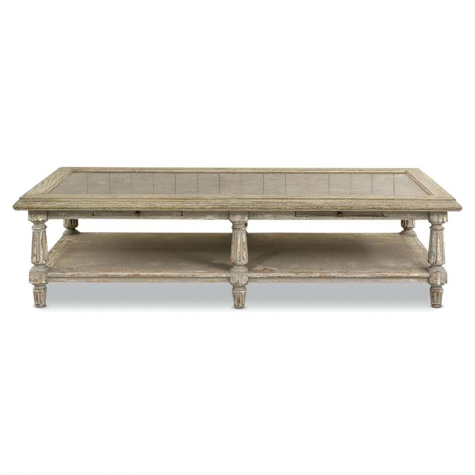 Coffee Tables : Stone Top Coffee Tableacme Furniture Colonial Inside 2017 Colonial Coffee Tables (View 5 of 20)