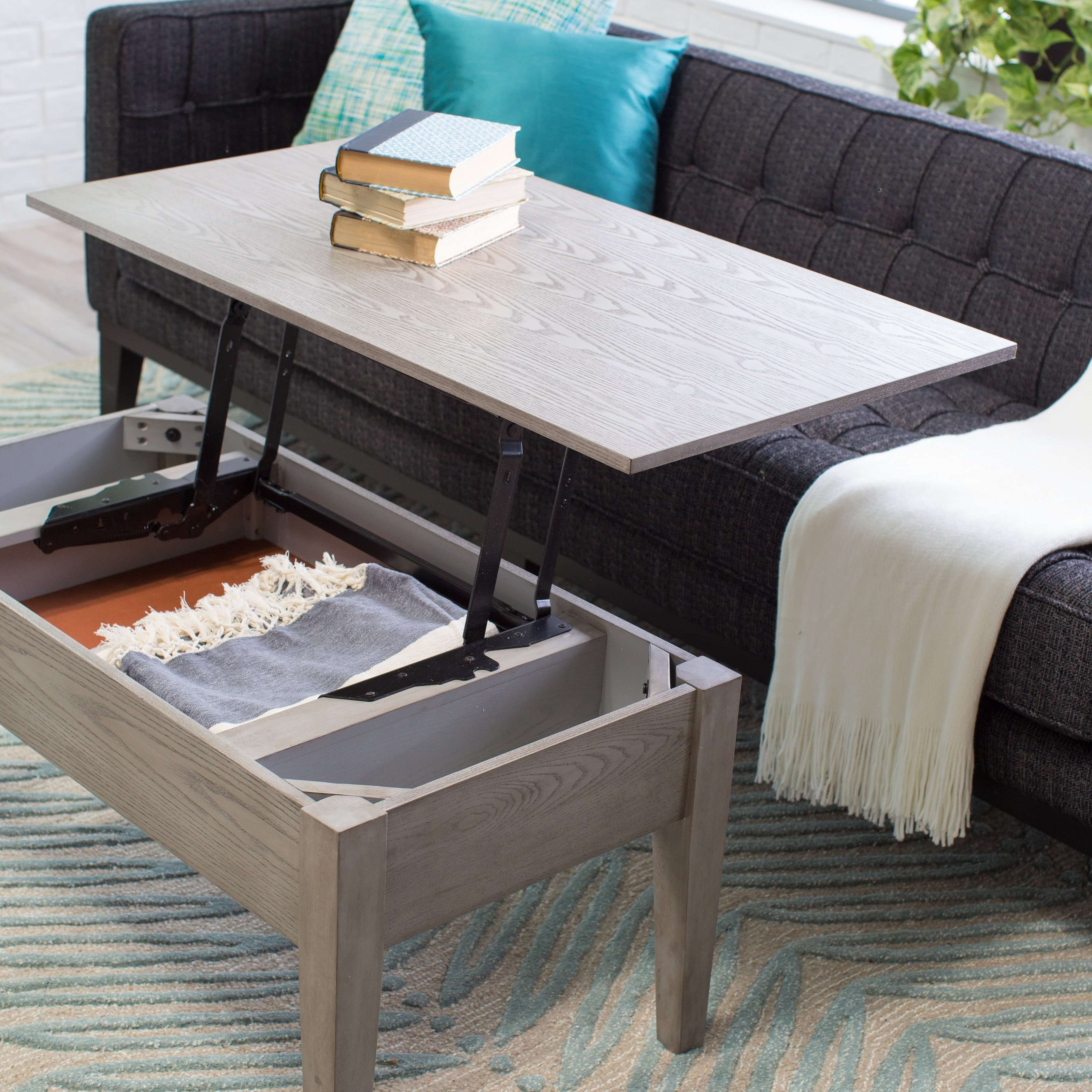 Coffee Tables : Storage Ottoman Coffee Table Target Pouf Cushion For Most Recent Coffee Tables Extendable Top (View 7 of 20)