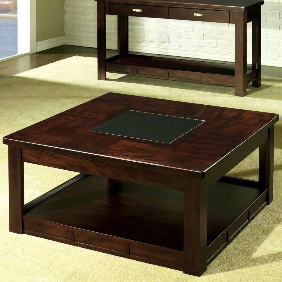 Coffee Tables : Storage Ottoman With Shelf Large Black Coffee In Most Up To Date Small Coffee Tables With Shelf (View 2 of 20)