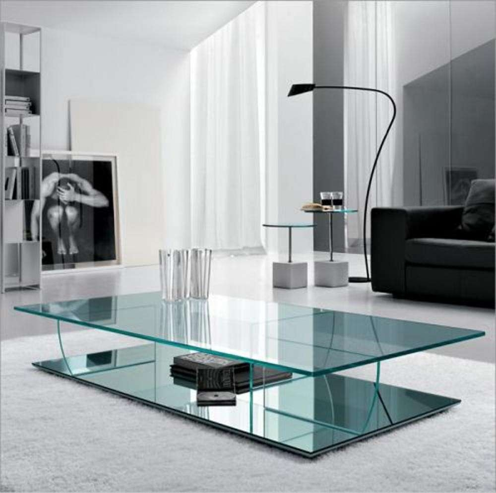 Coffee Tables : Surprising Minimalist Modern All Glass Coffee For Fashionable All Glass Coffee Tables (View 8 of 20)