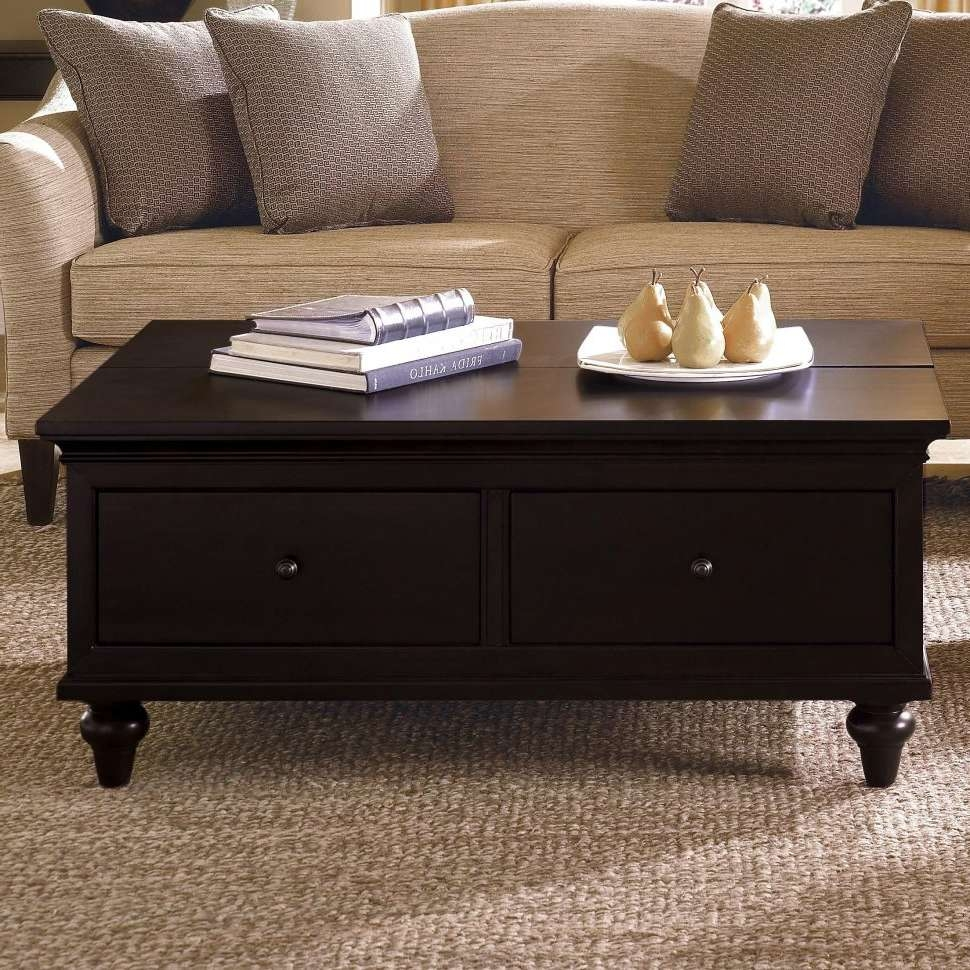 Coffee Tables : Table Coffee With Drawer Tables Thippo Lift Top For Widely Used Low Coffee Tables With Drawers (View 10 of 20)