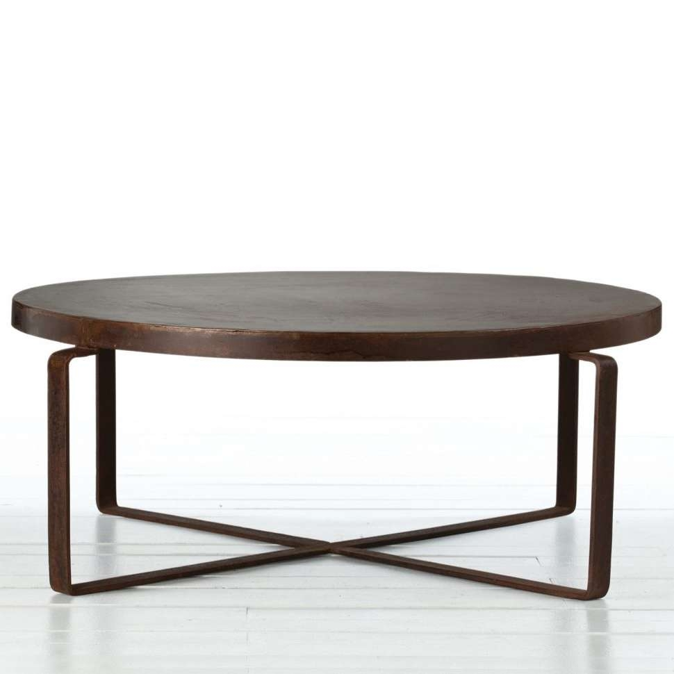 Coffee Tables : Table Round Glass Coffee With Wood Base Bar Regarding Fashionable Large Round Low Coffee Tables (View 8 of 20)