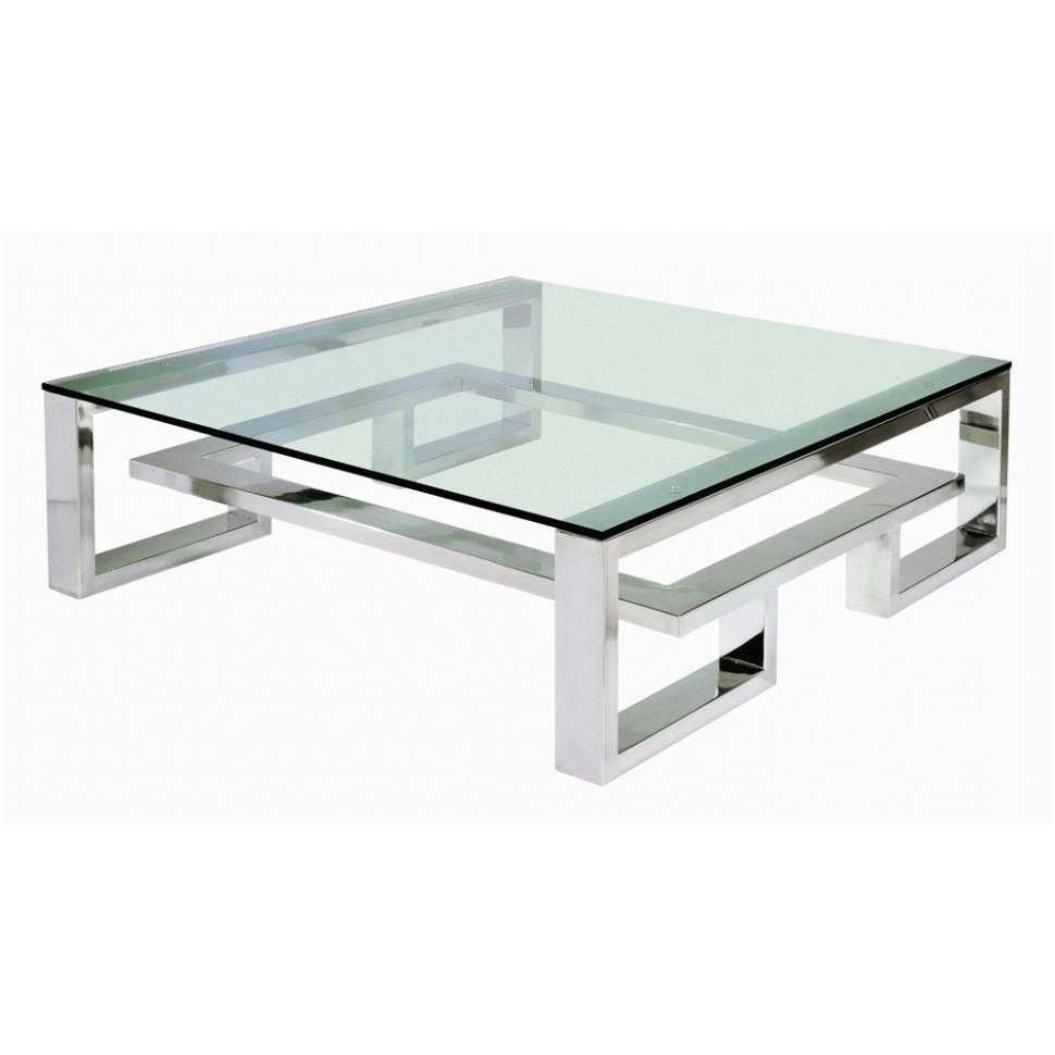 Coffee Tables : Tasty Square Glass Coffee Table Contemporary With Within Favorite Large Square Glass Coffee Tables (View 3 of 20)