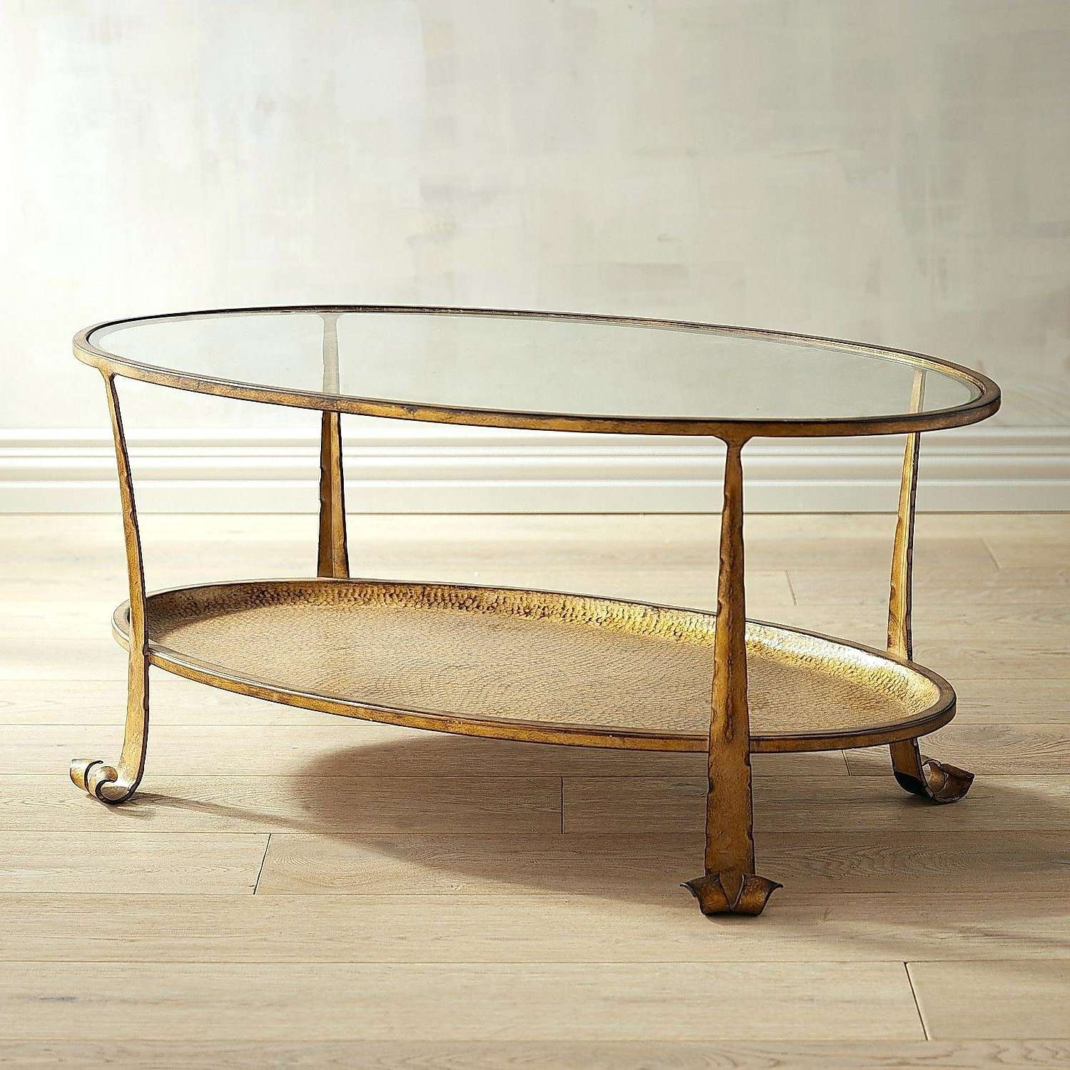 Coffee Tables : The Madison Coffee Table In Florentine Gold Finish With Most Current Gold Round Coffee Table (View 8 of 20)