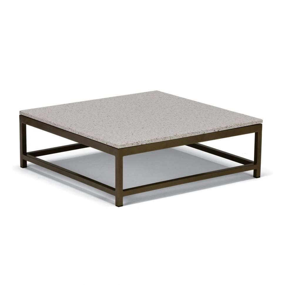 Coffee Tables : Tropitone Outdoor Stone Coffee Table Cabana Club Within Most Popular Square Stone Coffee Tables (View 11 of 20)