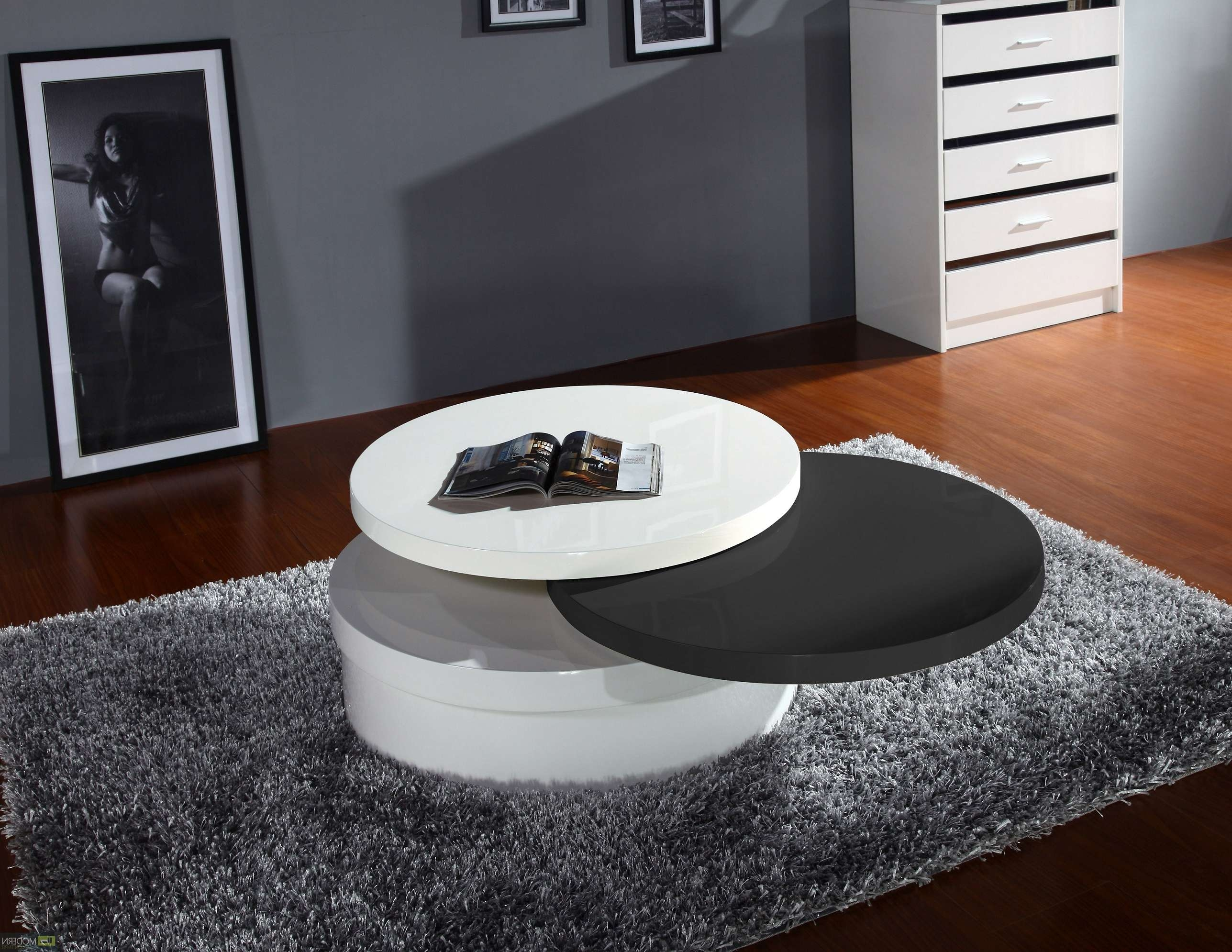Coffee Tables : Turner Furniture White Round Coffee Table Products Inside Current Round Swivel Coffee Tables (View 5 of 20)